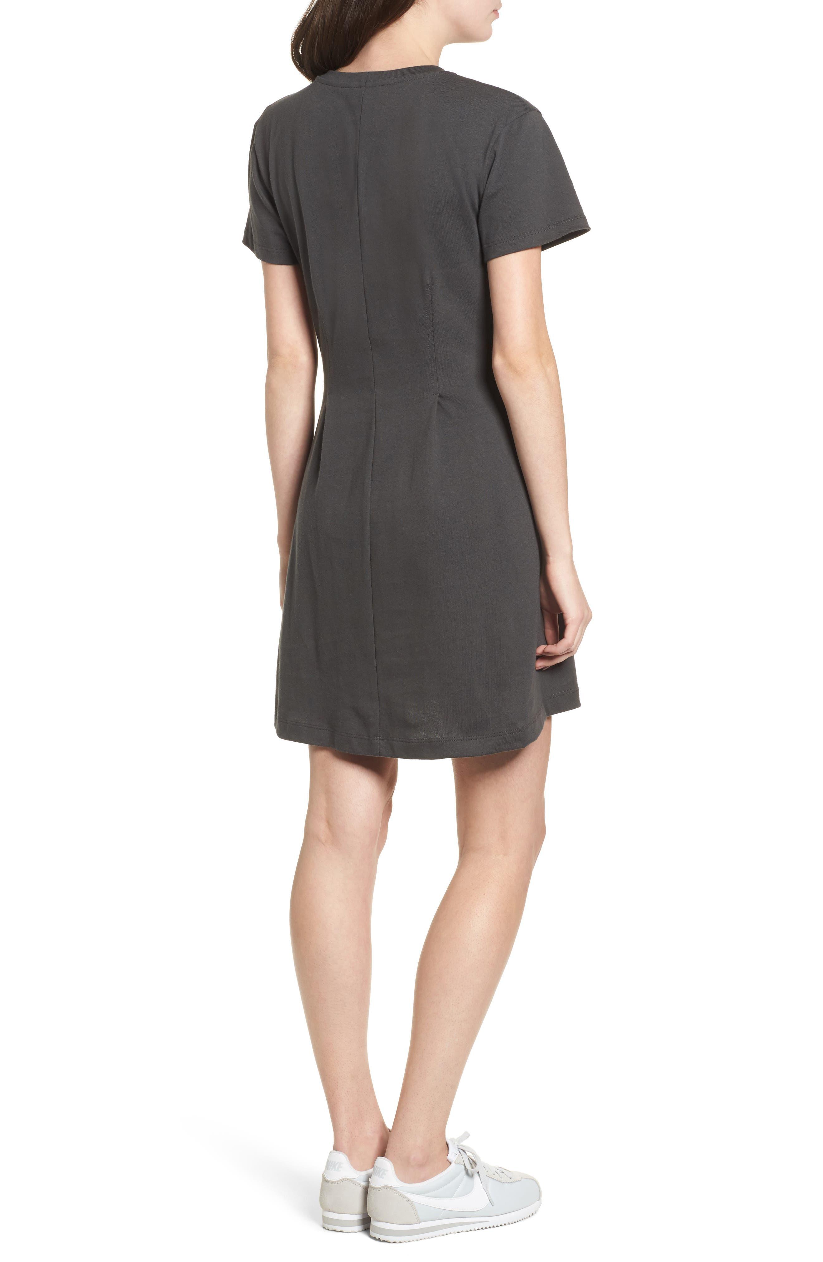 Cotton T-Shirt Dress,                             Alternate thumbnail 2, color,                             020