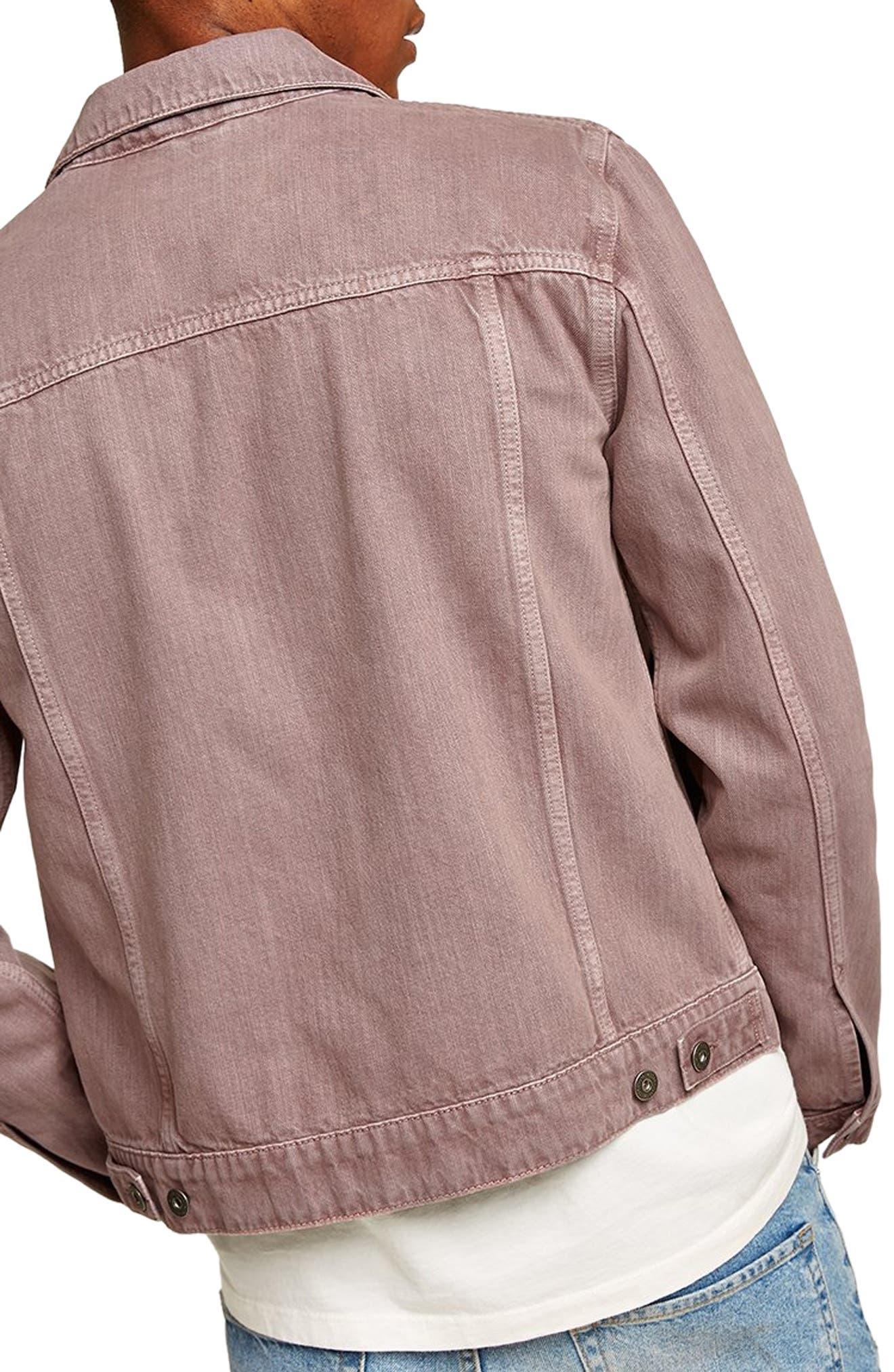 Eamon Denim Jacket,                             Alternate thumbnail 2, color,                             PINK