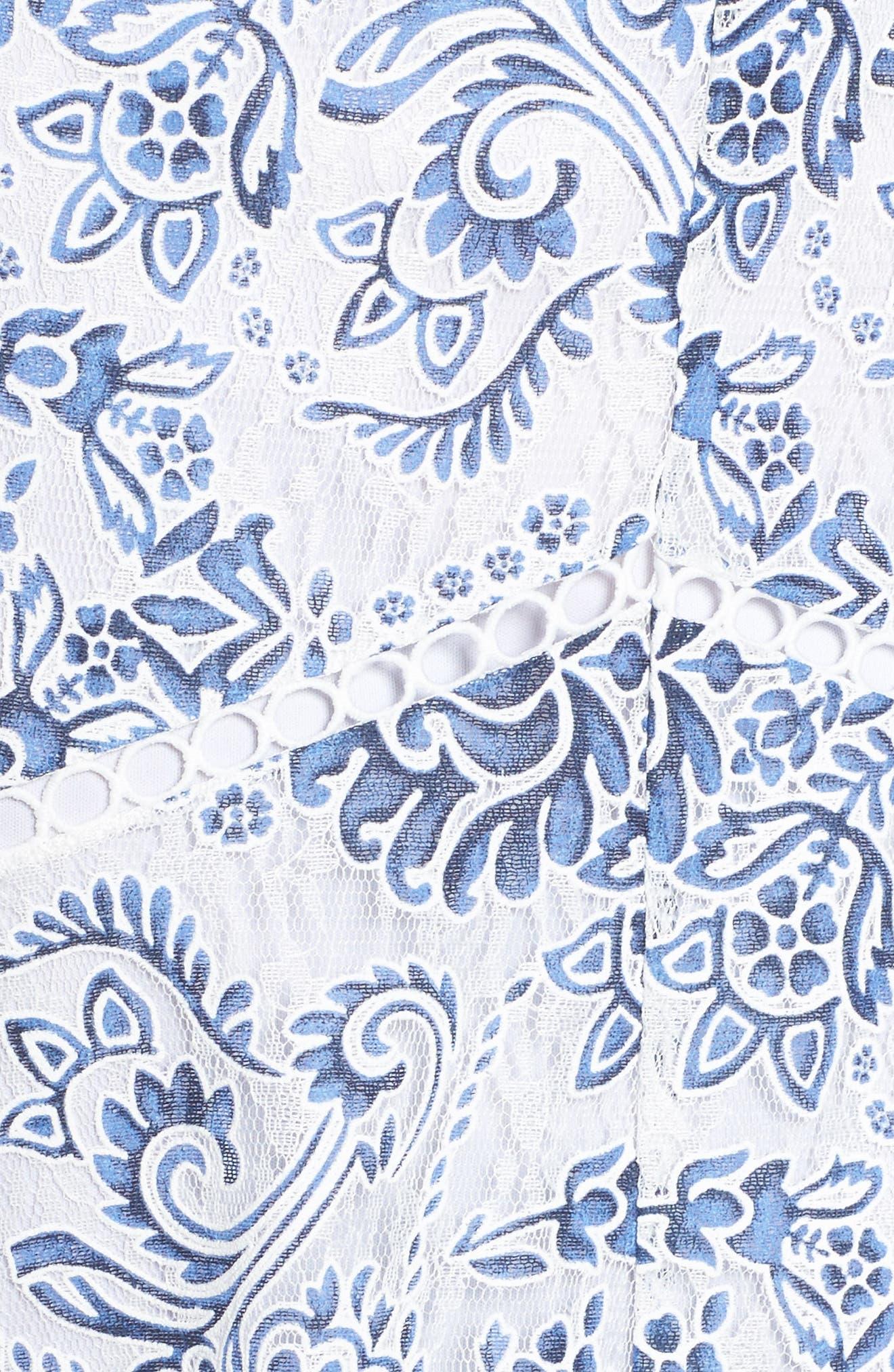 Burnout Lace Midi Dress,                             Alternate thumbnail 5, color,                             101