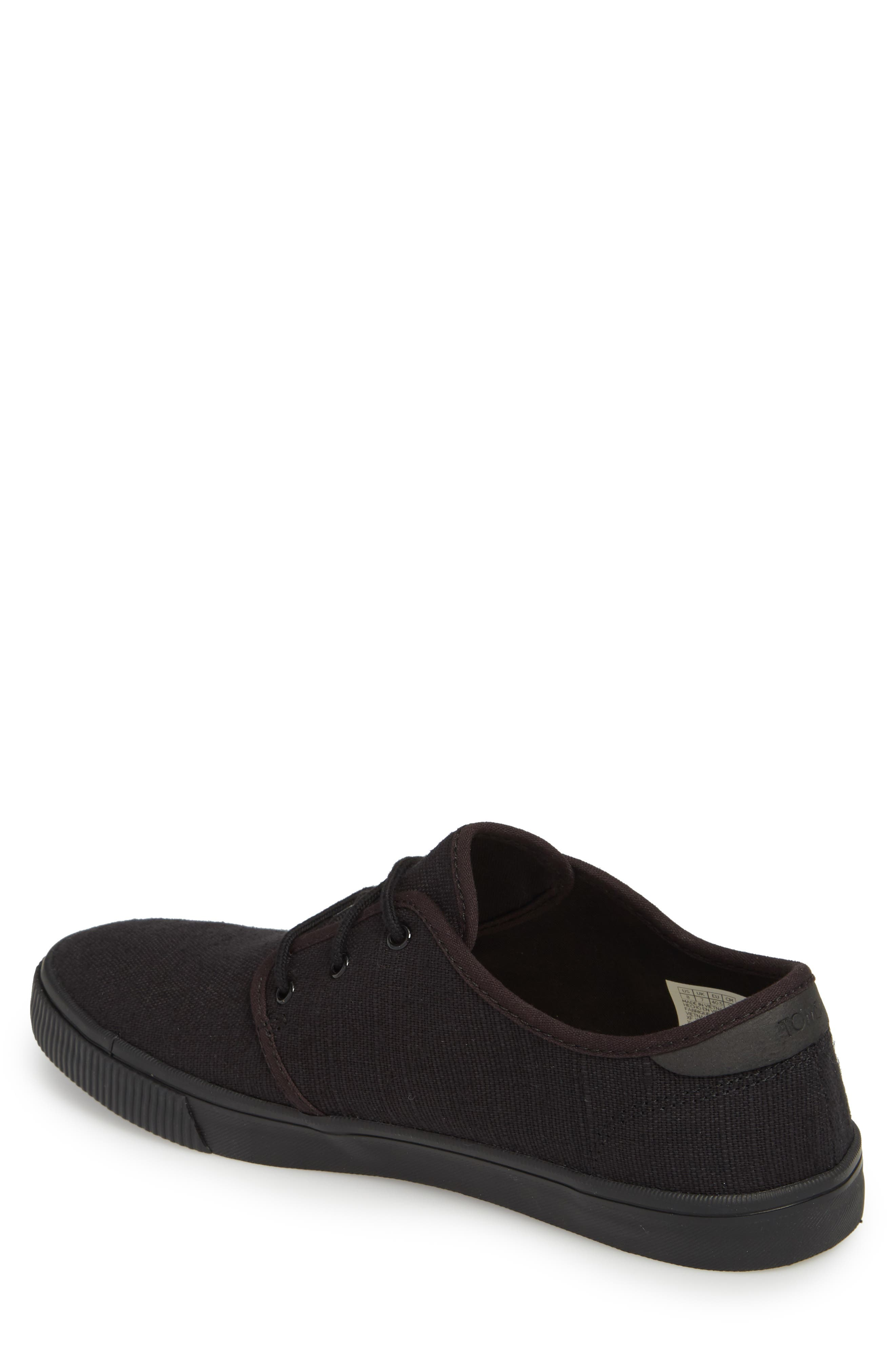Carlo Low Top Sneaker,                             Alternate thumbnail 2, color,                             BLACK/ BLACK HERITAGE CANVAS