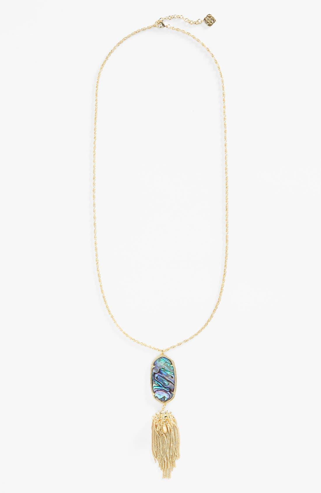 Rayne Stone Tassel Pendant Necklace,                             Alternate thumbnail 244, color,