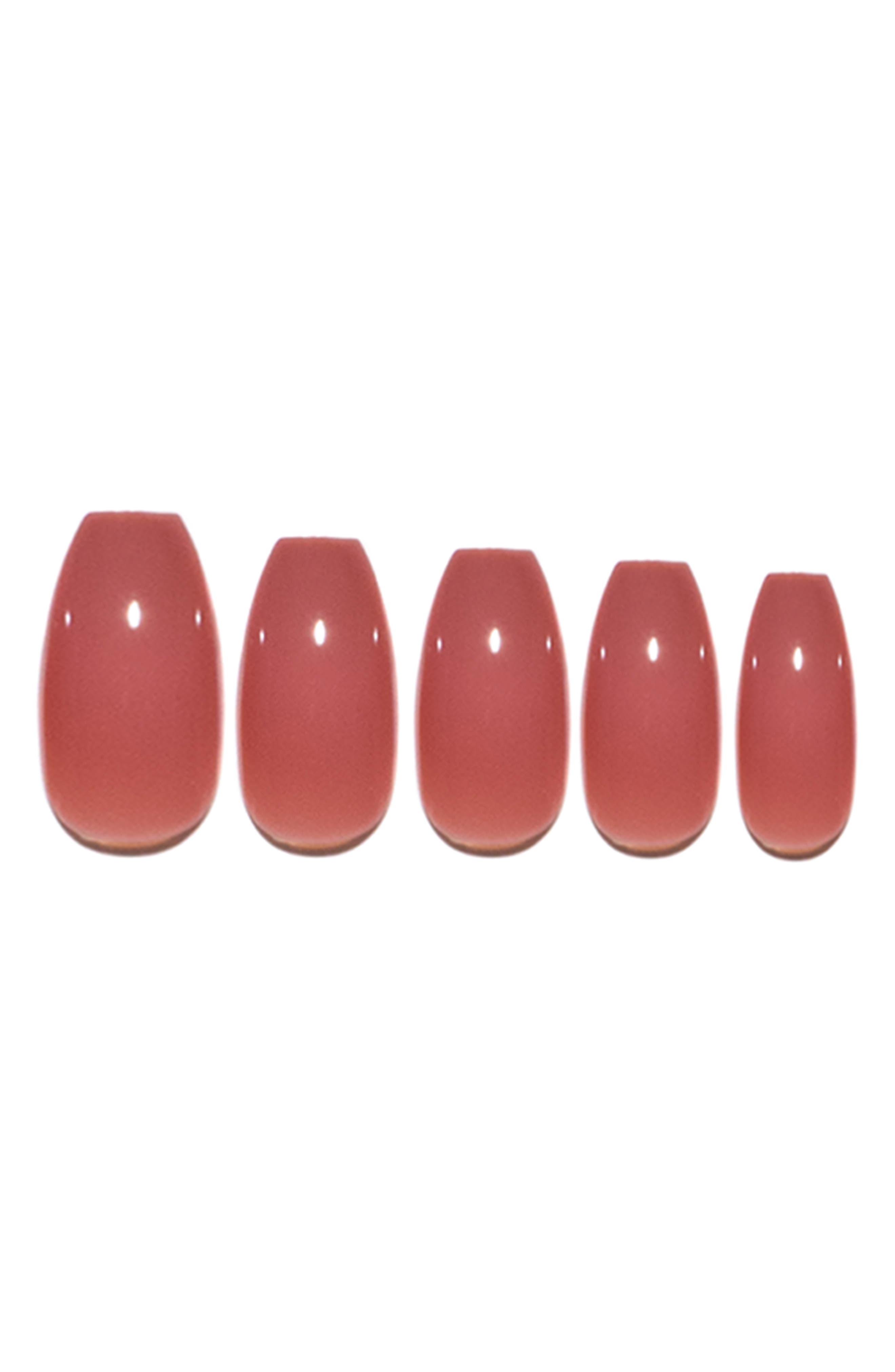 Dusty Rose Pop-On Reusable Manicure Set,                             Main thumbnail 1, color,                             DUSTY ROSE