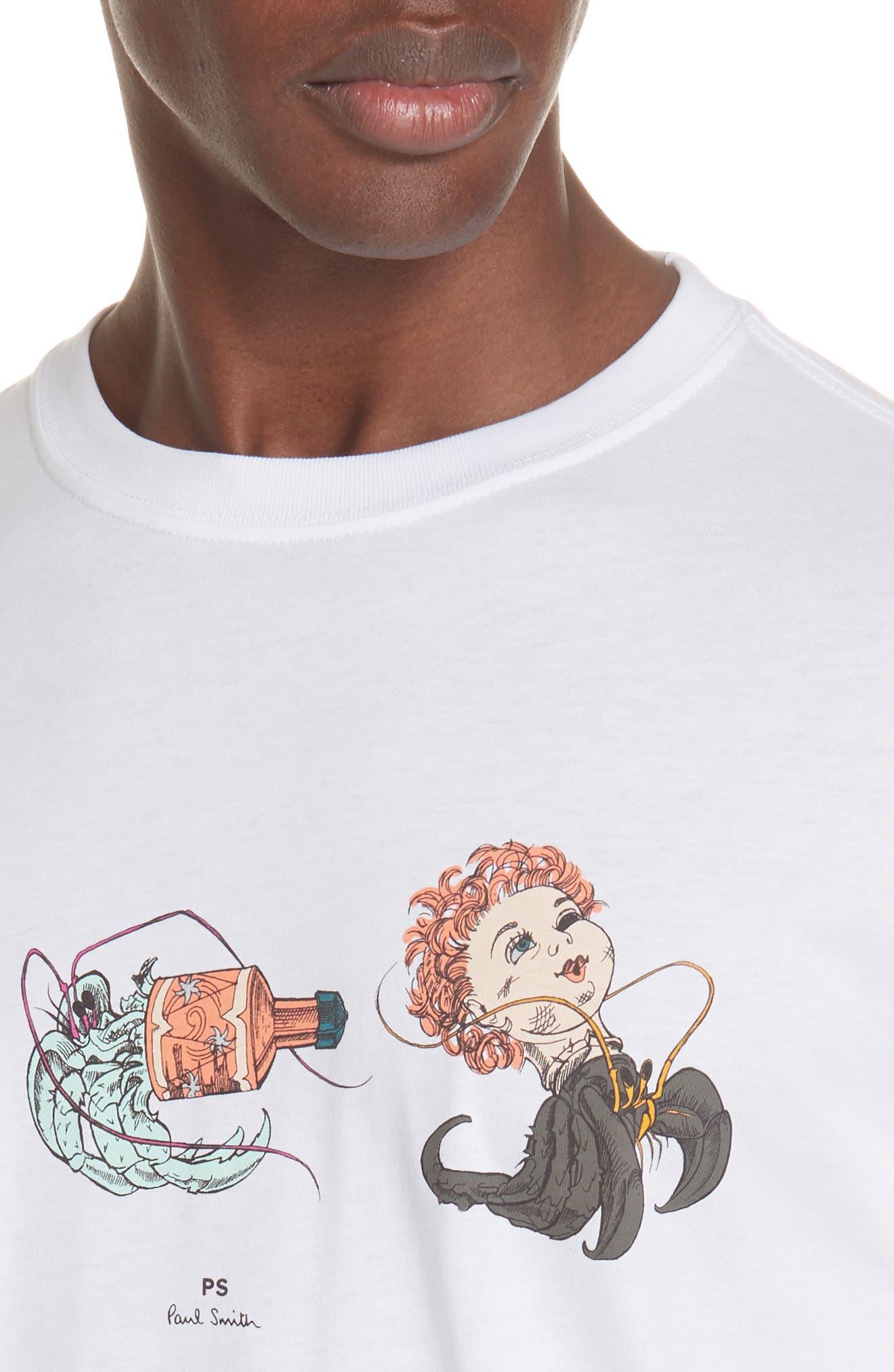 PS PAUL SMITH,                             Shipwreck Graphic T-Shirt,                             Alternate thumbnail 4, color,                             100