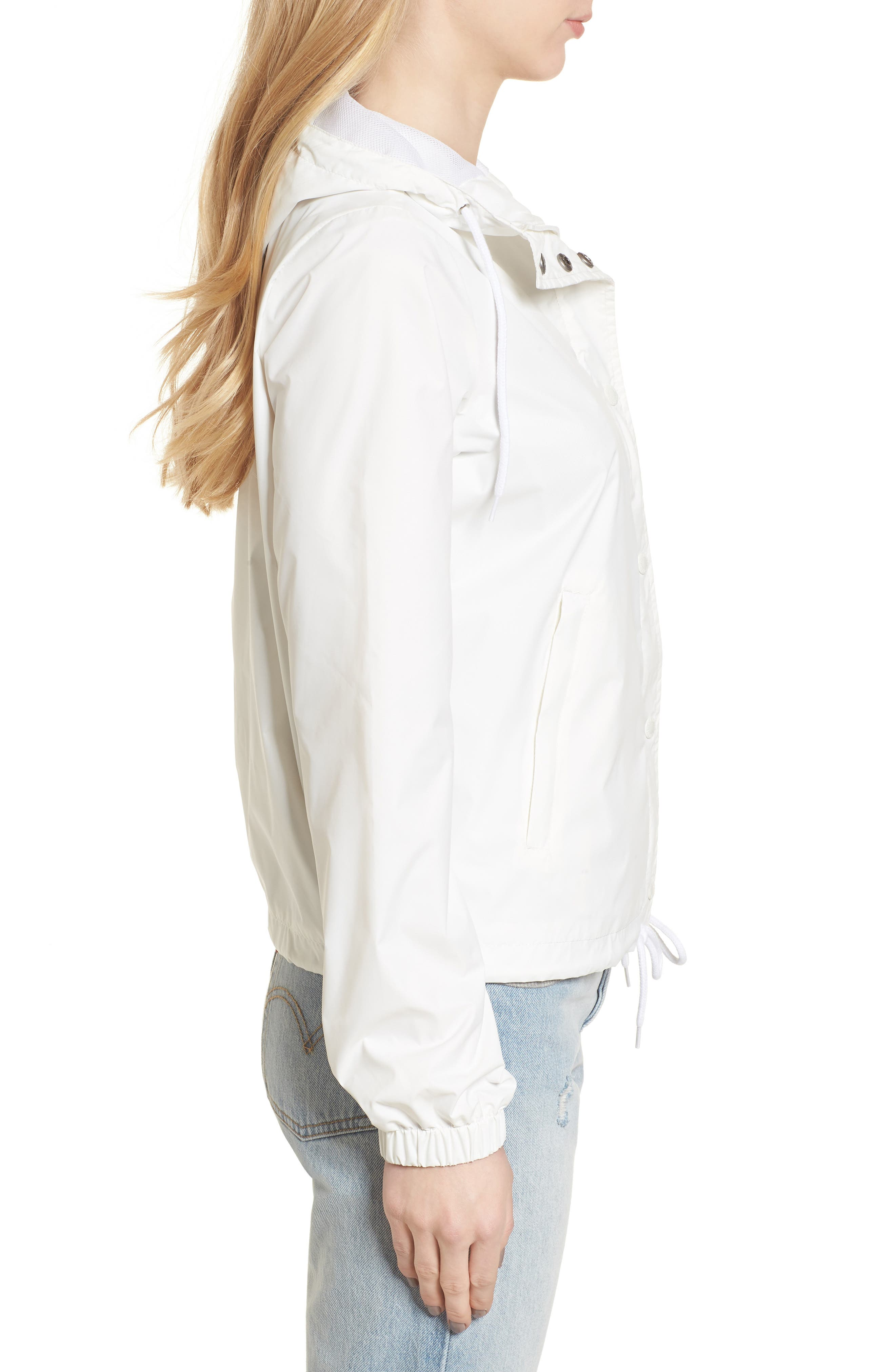 Retro Hooded Coach's Jacket,                             Alternate thumbnail 3, color,                             100