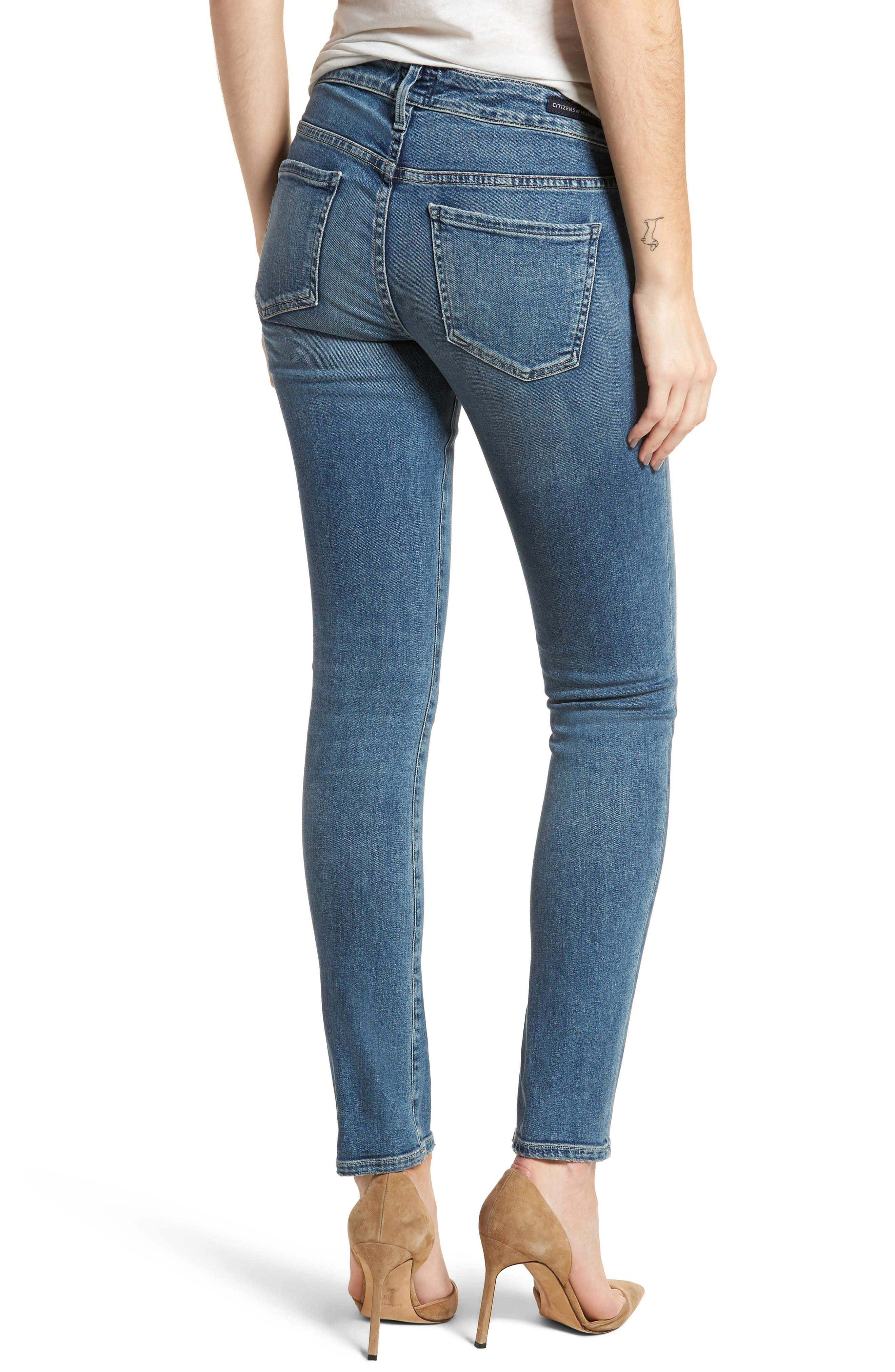 Racer Skinny Jeans,                             Alternate thumbnail 2, color,                             462