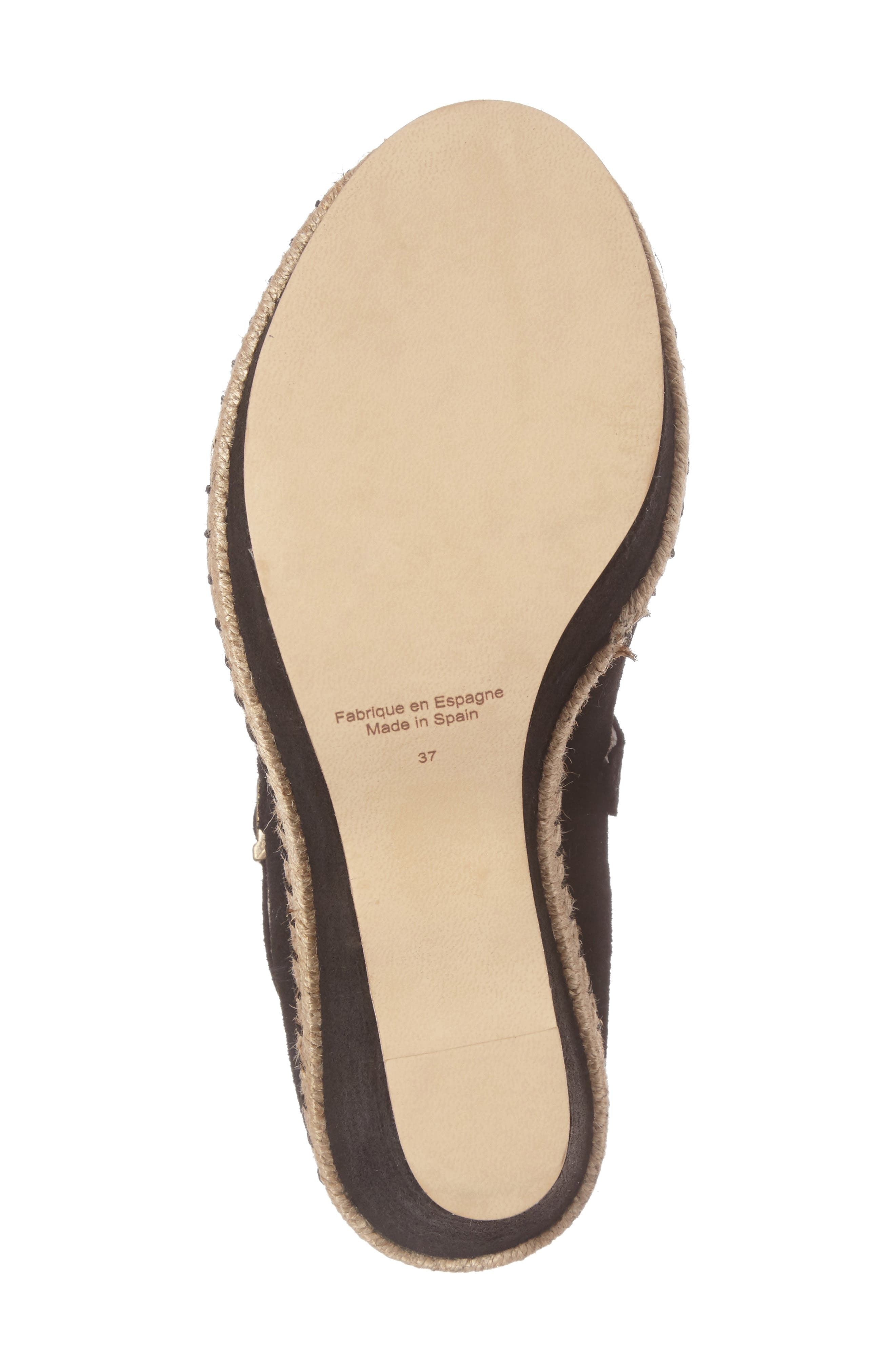 Medici Sandal,                             Alternate thumbnail 6, color,                             BLACK FABRIC