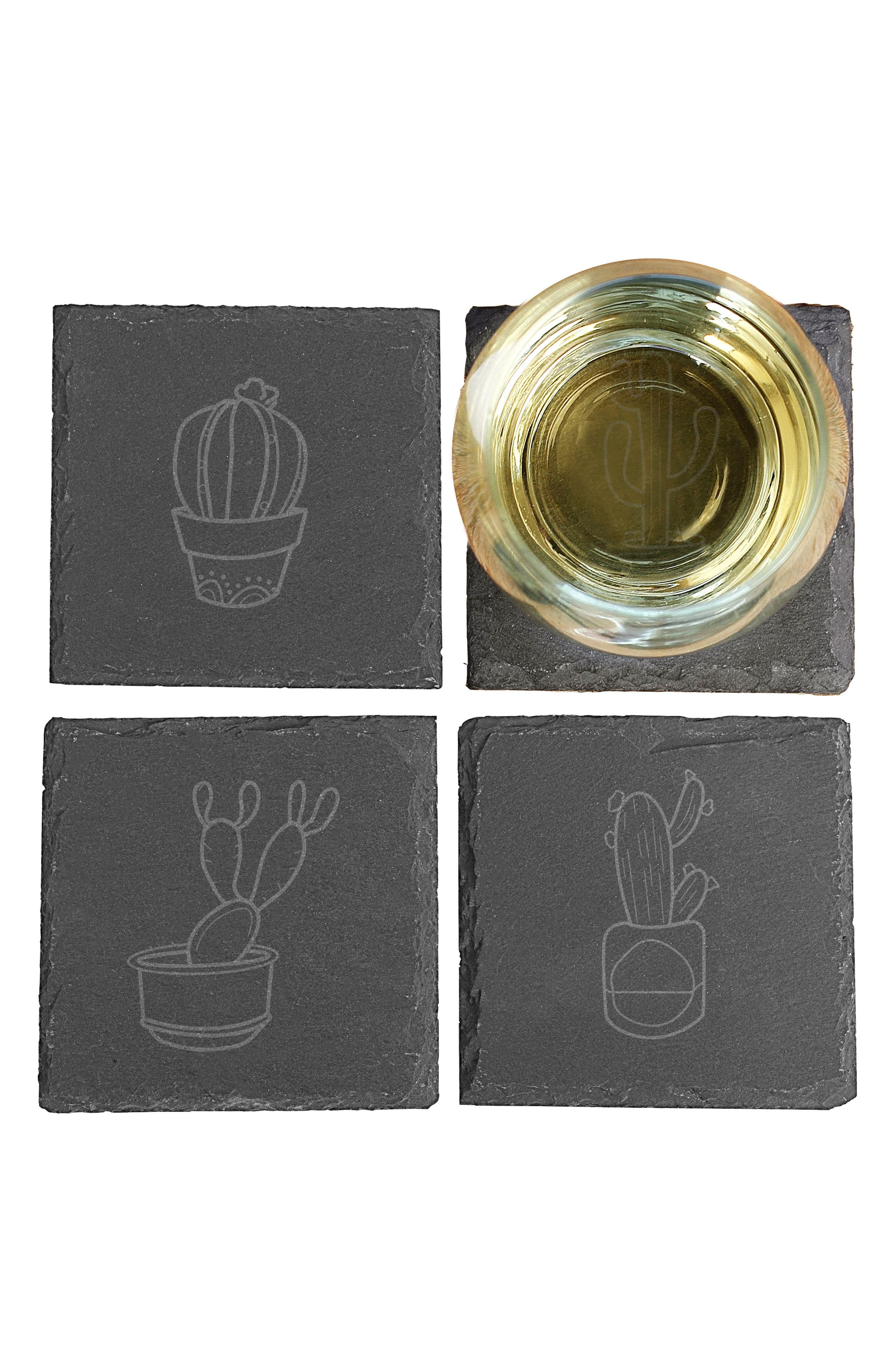 CATHY'S CONCEPTS,                             Cactus Set of 4 Coasters,                             Alternate thumbnail 2, color,                             002