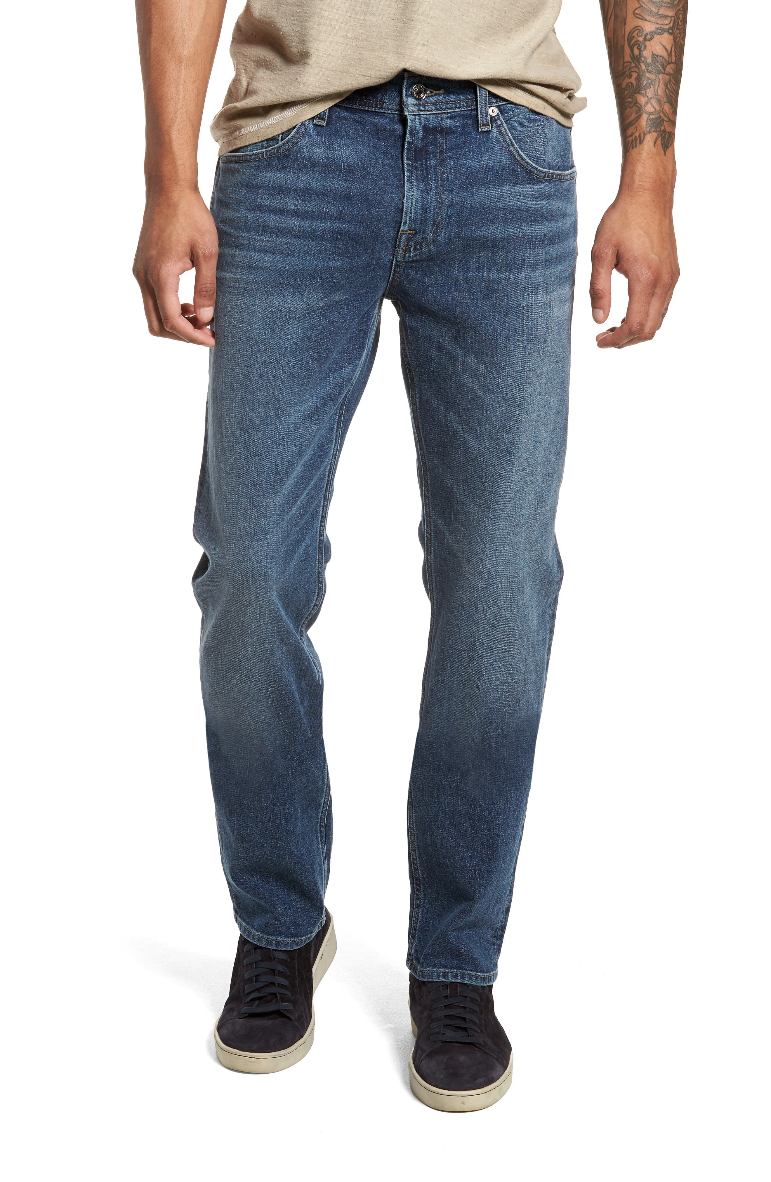 The Straight Slim Straight Fit Jeans,                             Main thumbnail 1, color,                             SINAI