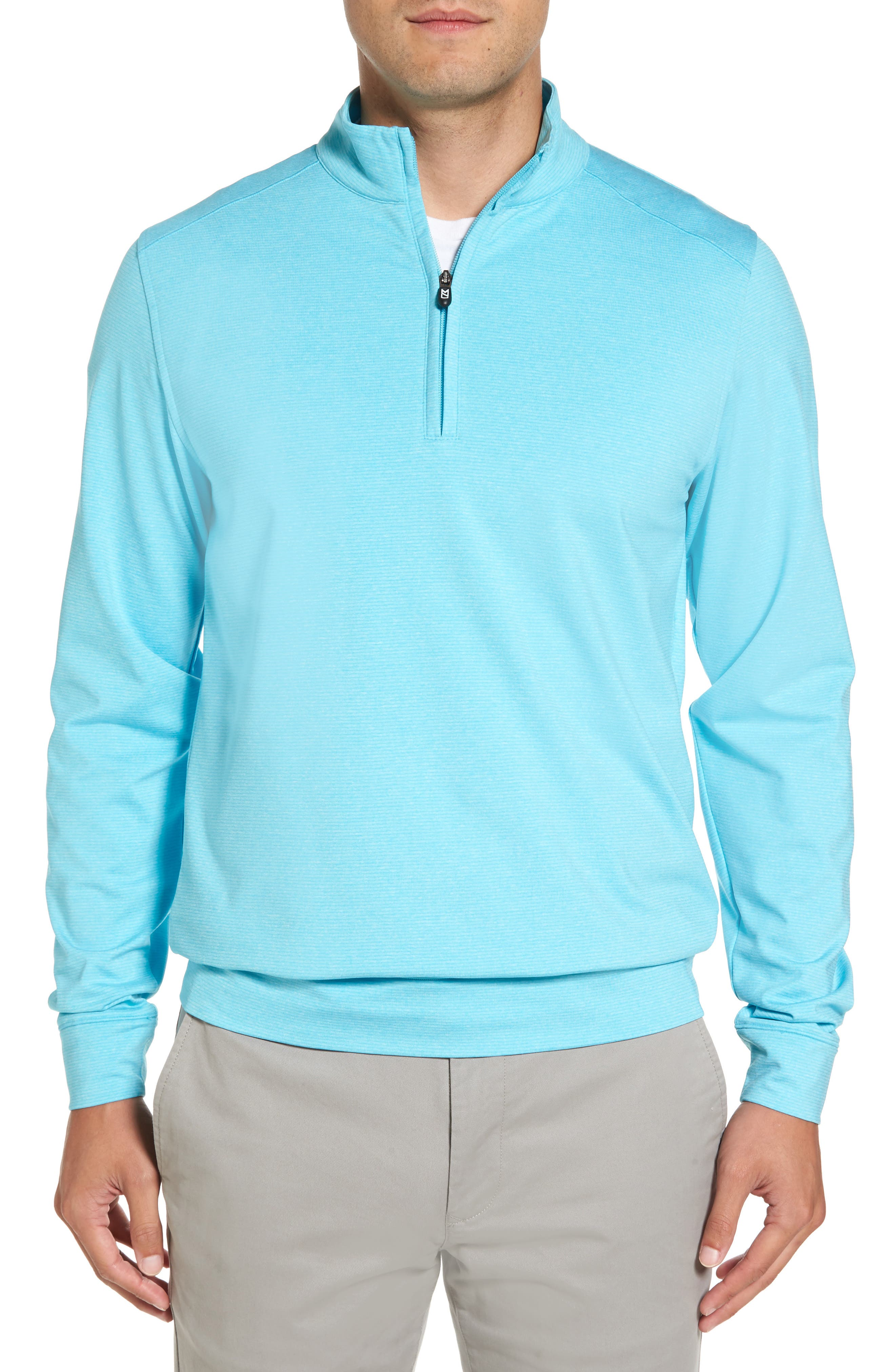 'Shoreline' Quarter Zip Pullover,                             Main thumbnail 1, color,                             ARUBA HEATHER