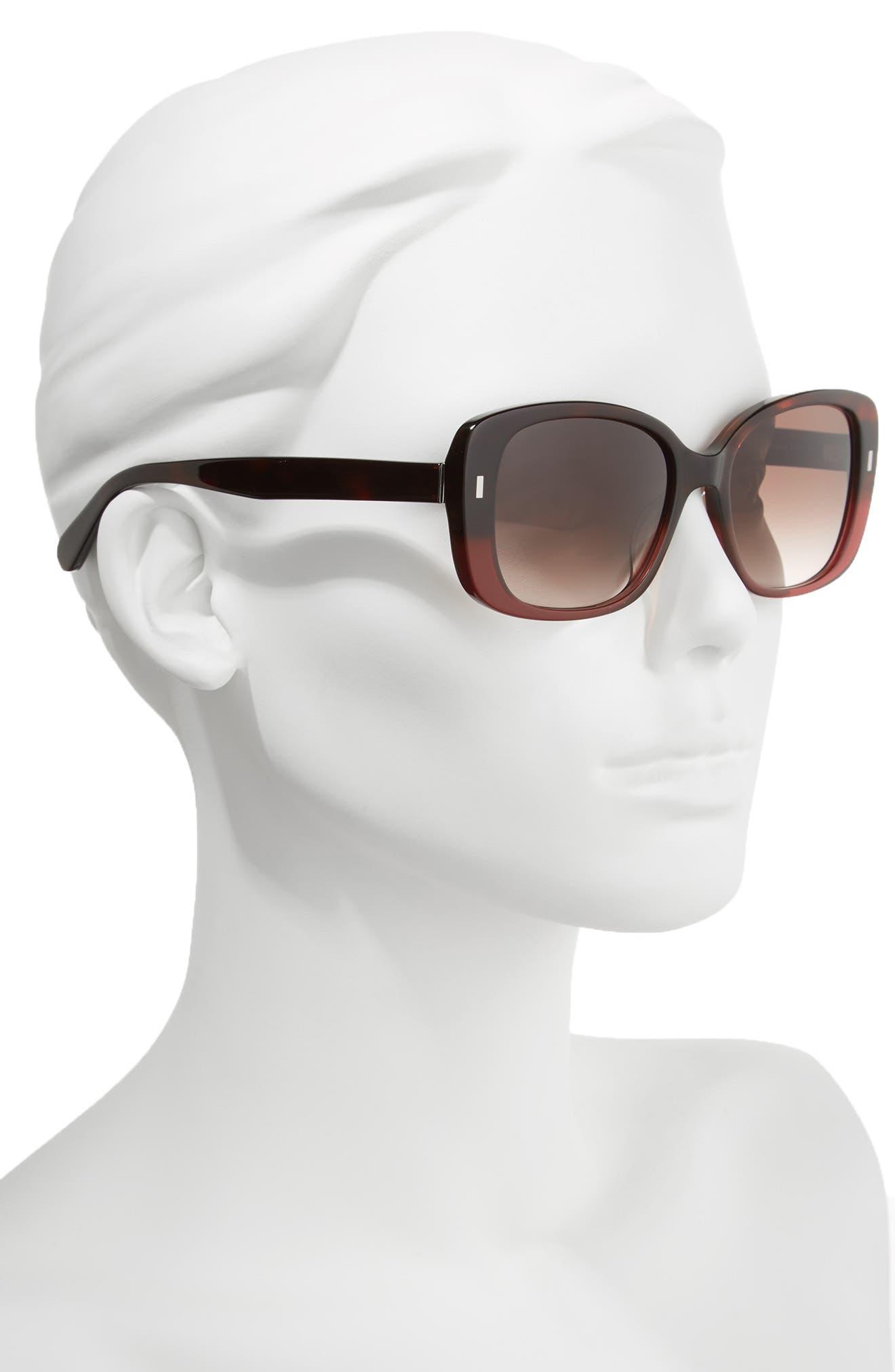 The Audrey 53mm Square Sunglasses,                             Alternate thumbnail 8, color,