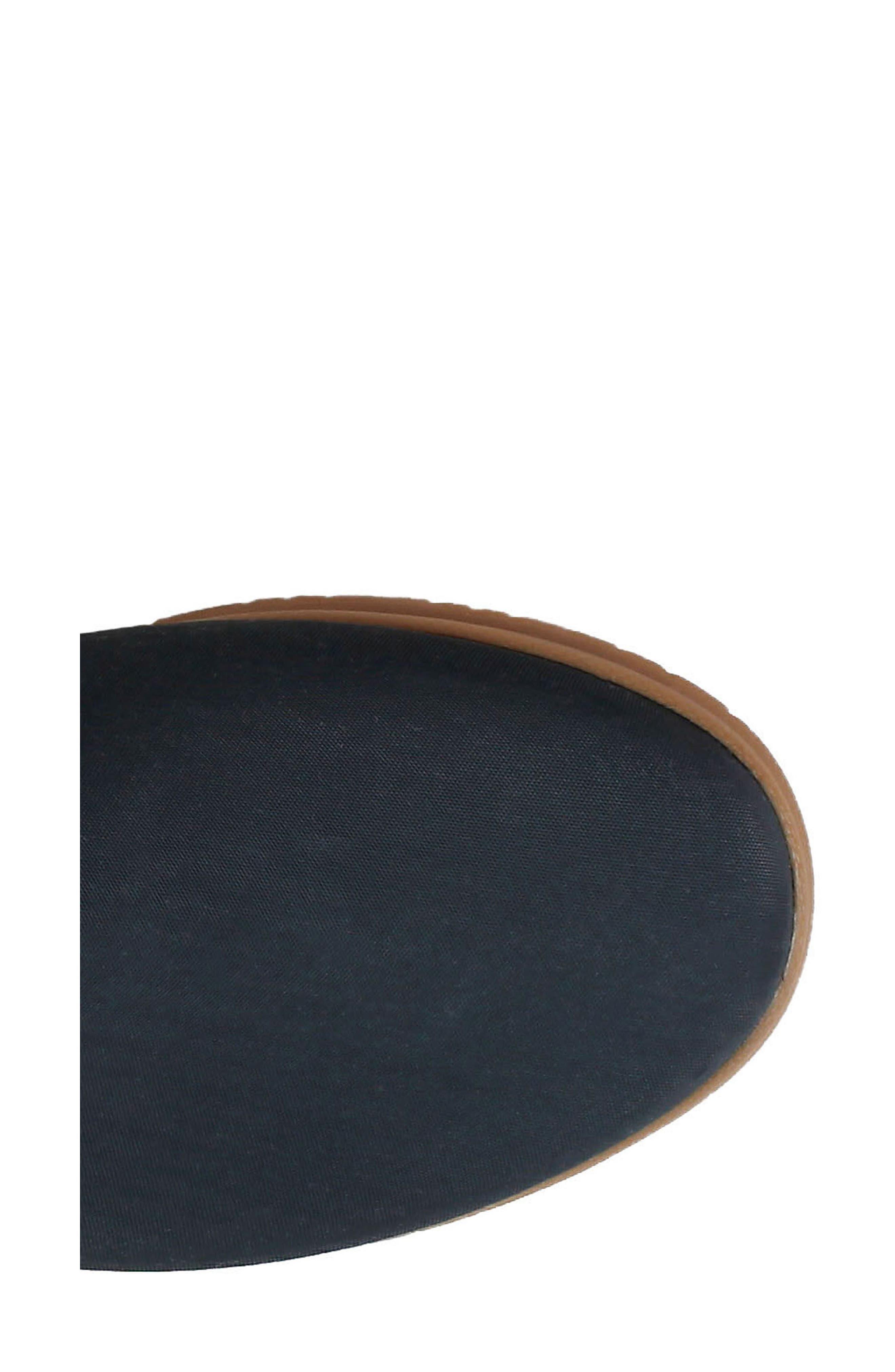 Sweetpea Waterproof Slip-On Sneaker,                             Alternate thumbnail 7, color,                             BLACK FABRIC