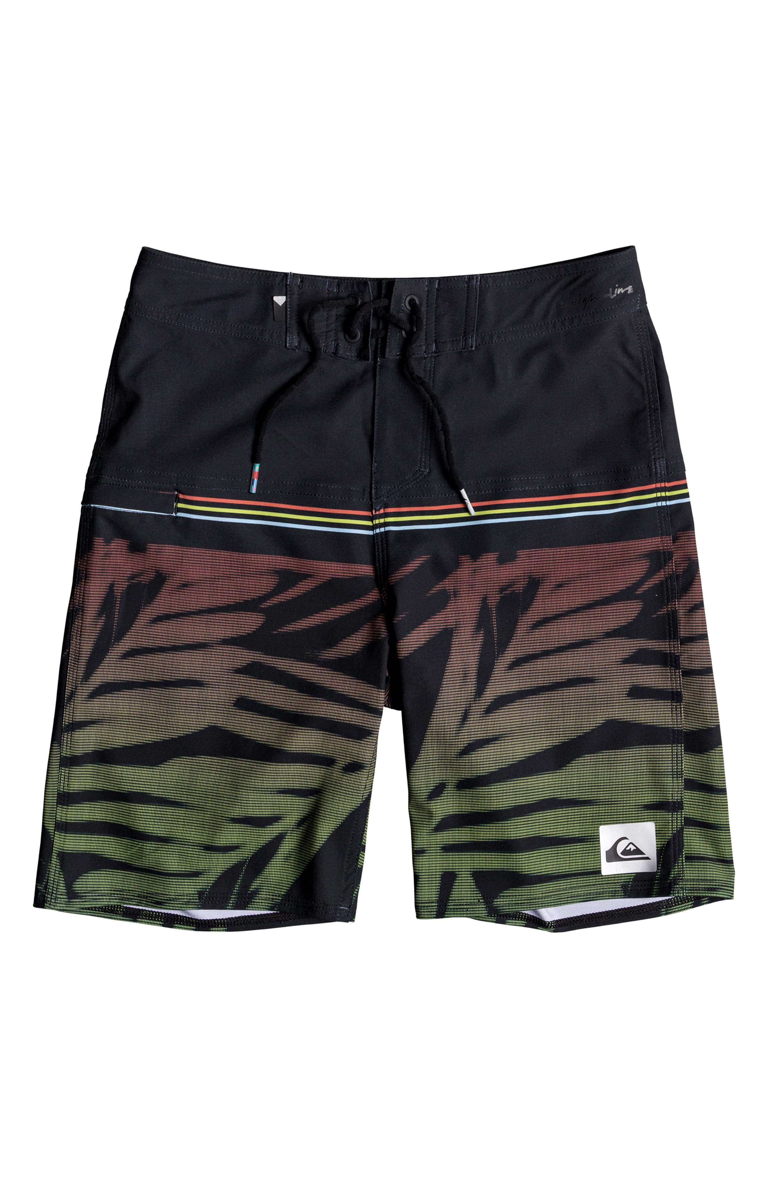 Highline Zen Board Shorts,                             Main thumbnail 1, color,                             BLACK