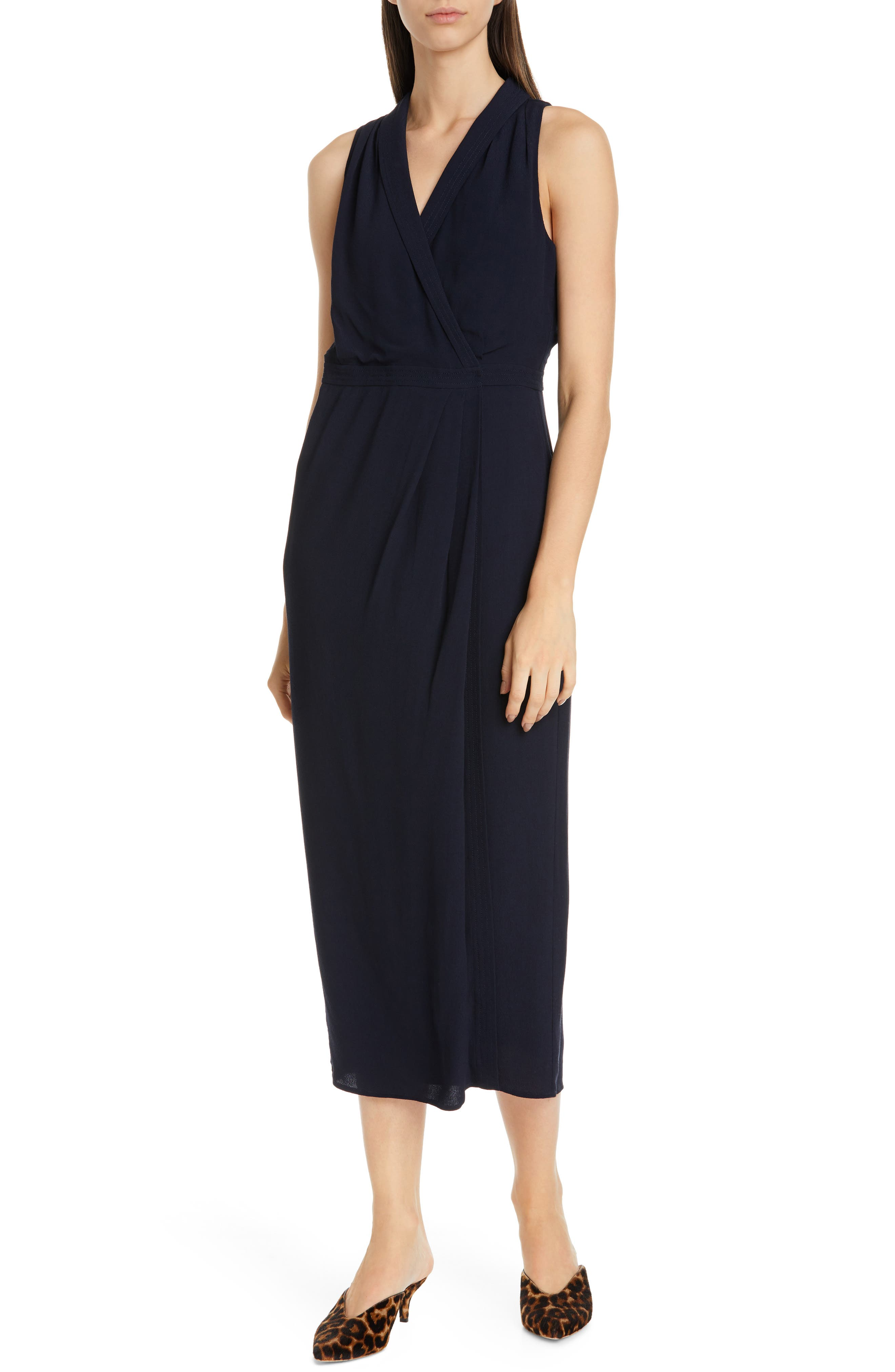 Equipment Katherine Wrap Midi Dress, Blue