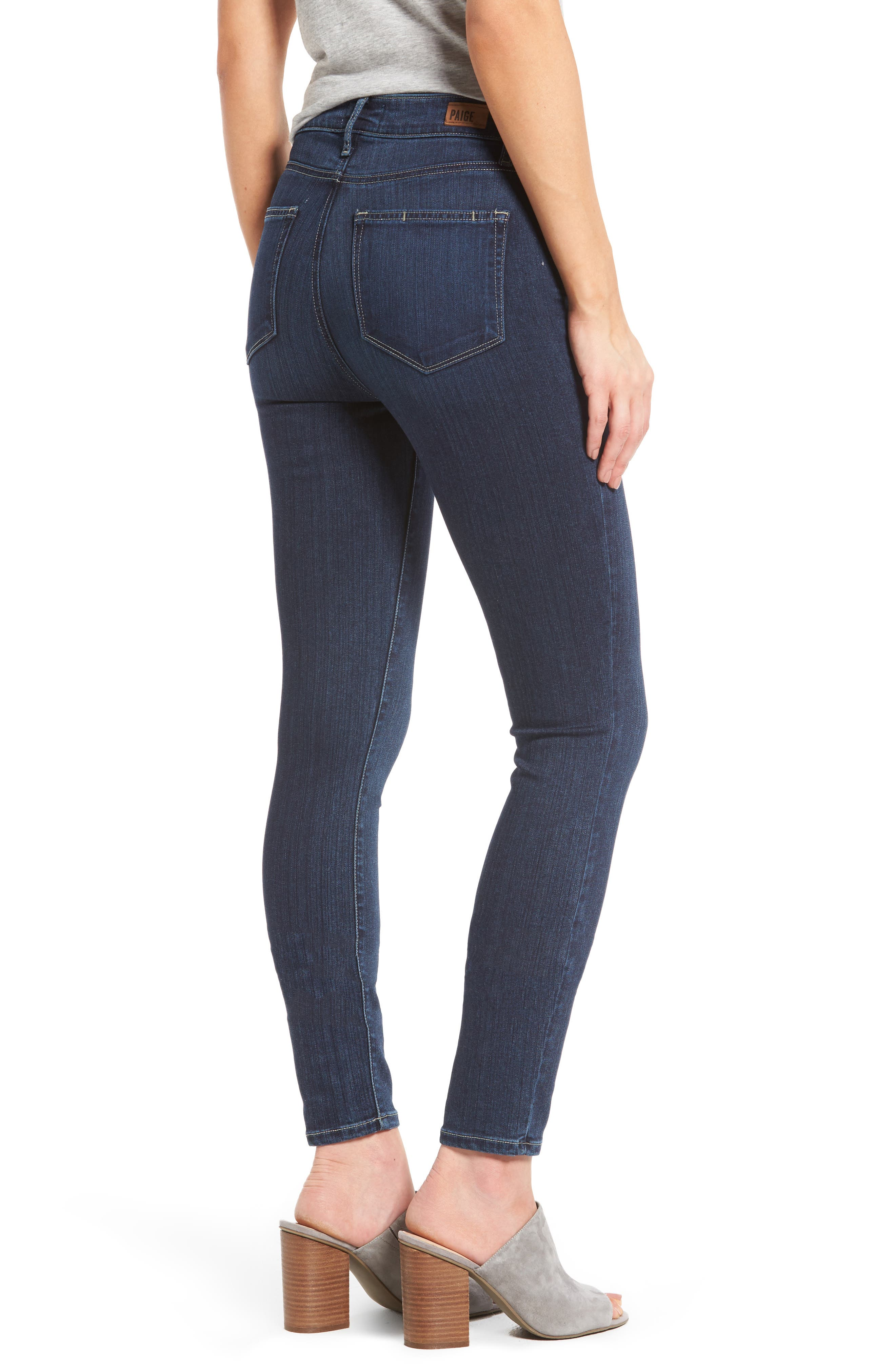 Transcend - Hoxton High Waist Ankle Skinny Jeans,                             Alternate thumbnail 2, color,                             CHARING