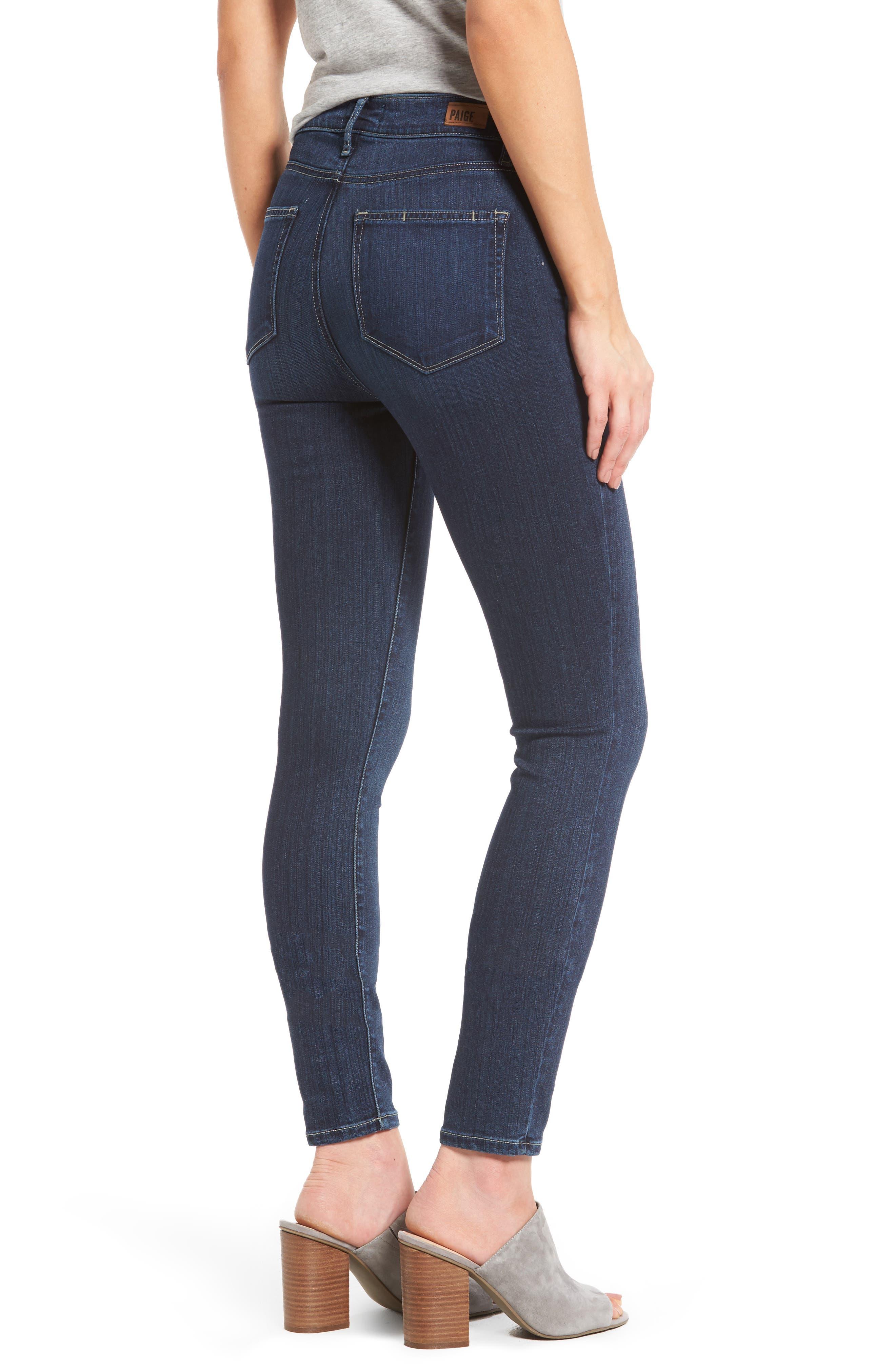 Transcend - Hoxton High Waist Ankle Skinny Jeans,                             Alternate thumbnail 2, color,                             400