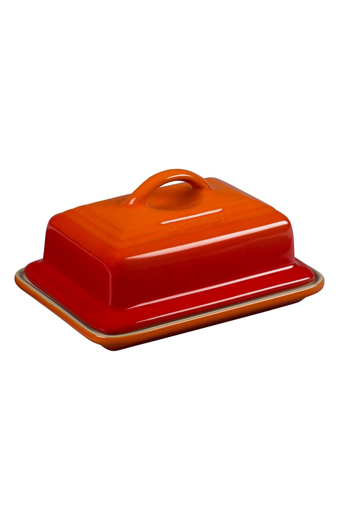 'Heritage' Stoneware Butter Dish & Lid,                             Main thumbnail 1, color,                             FLAME