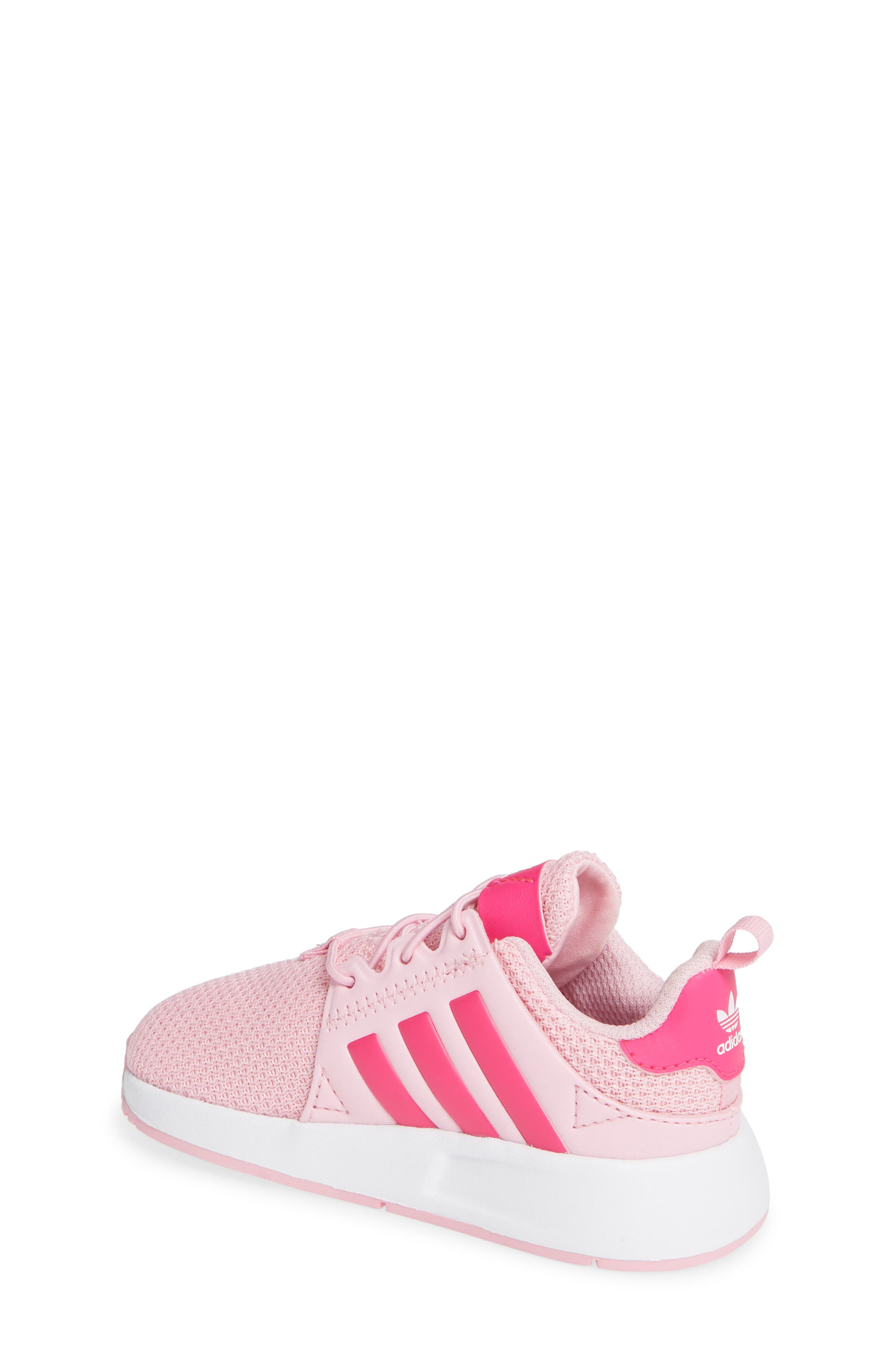 ADIDAS,                             X_PLR Sneaker,                             Alternate thumbnail 2, color,                             TRUE PINK/ SHOCK PINK/ WHITE