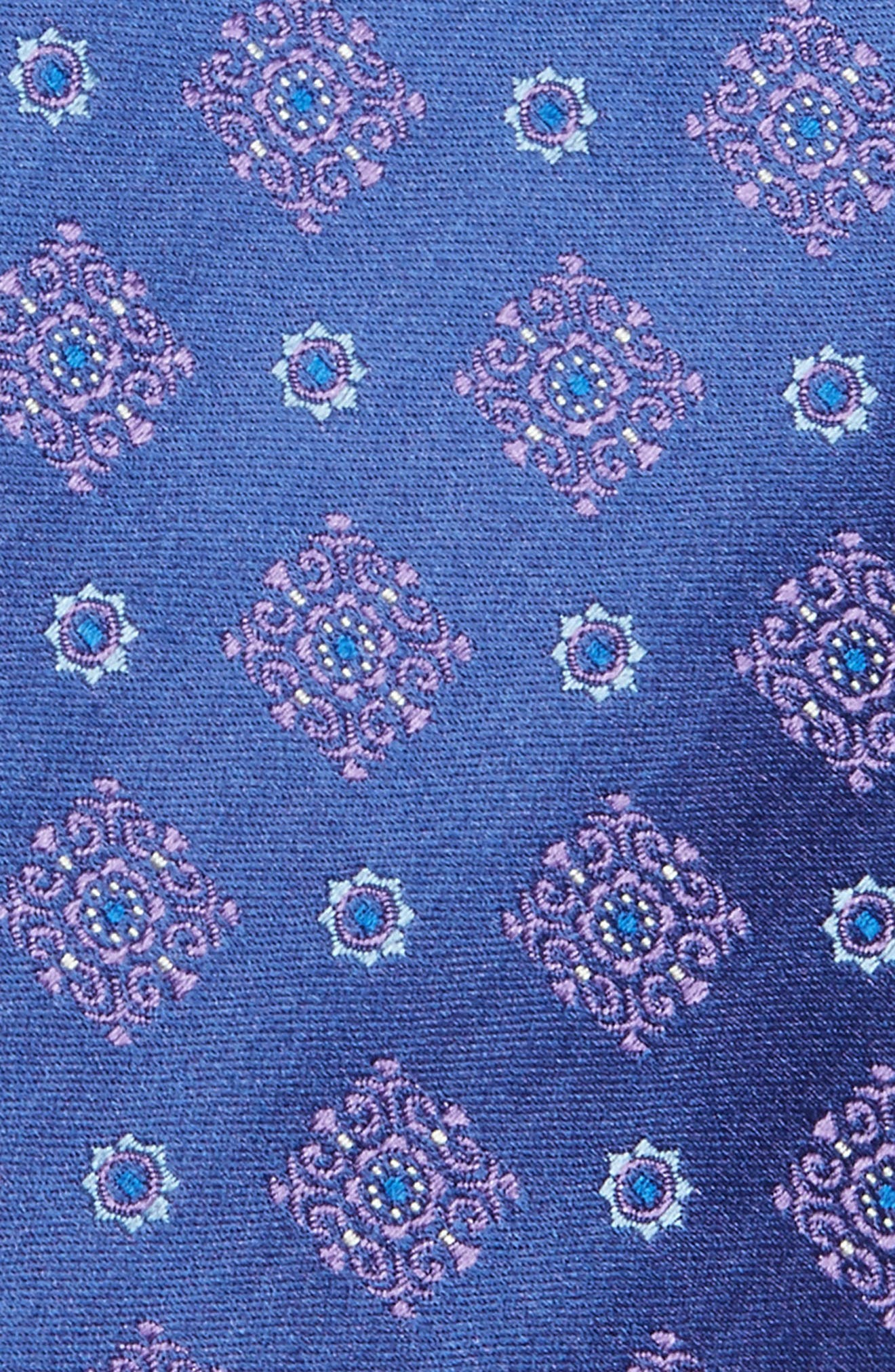 Medallion Silk Tie,                             Alternate thumbnail 4, color,