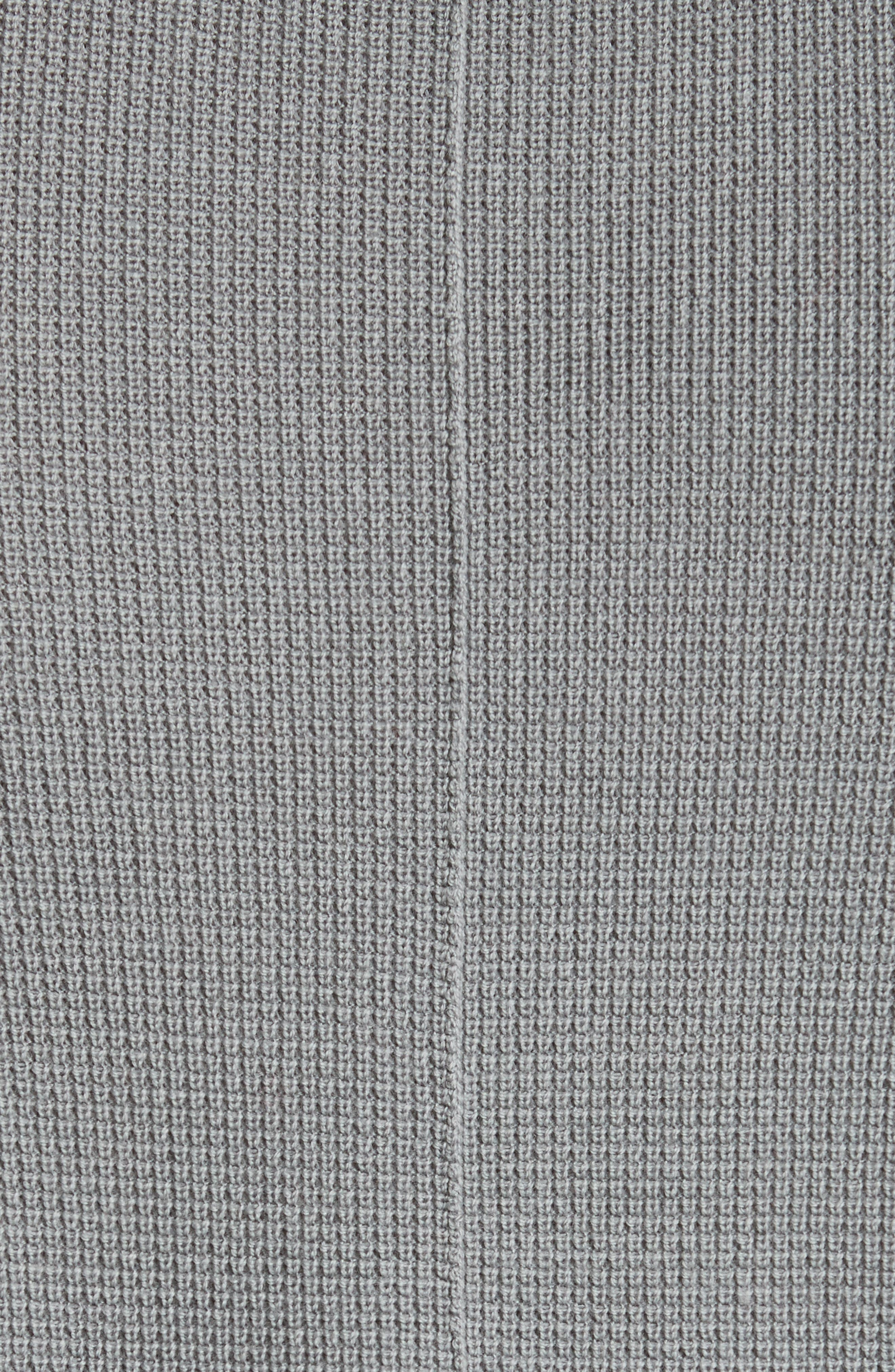 Zack Two-Tone Waffle Knit Wool Henley,                             Alternate thumbnail 5, color,                             030