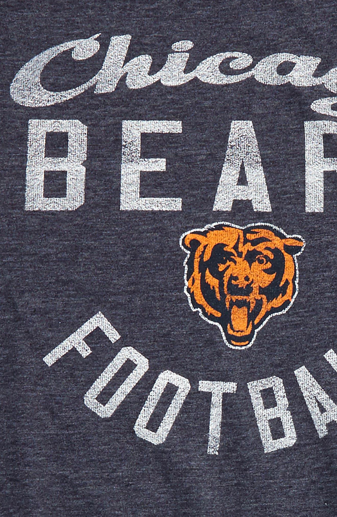 NFL Chicago Bears Distressed Logo T-Shirt,                             Alternate thumbnail 2, color,                             001