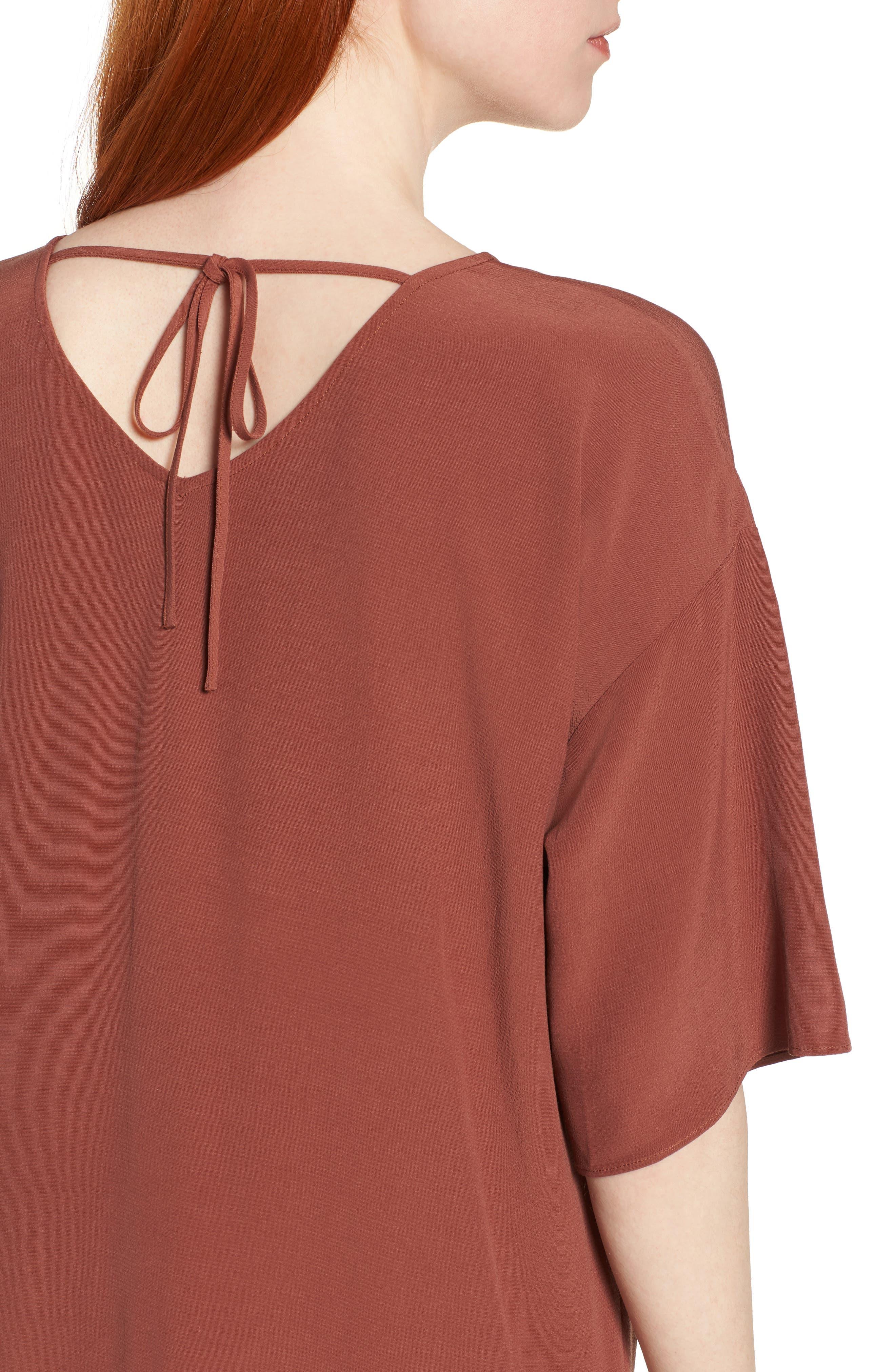 Drop Waist Tencel<sup>®</sup> Lyocell Blend Dress,                             Alternate thumbnail 15, color,