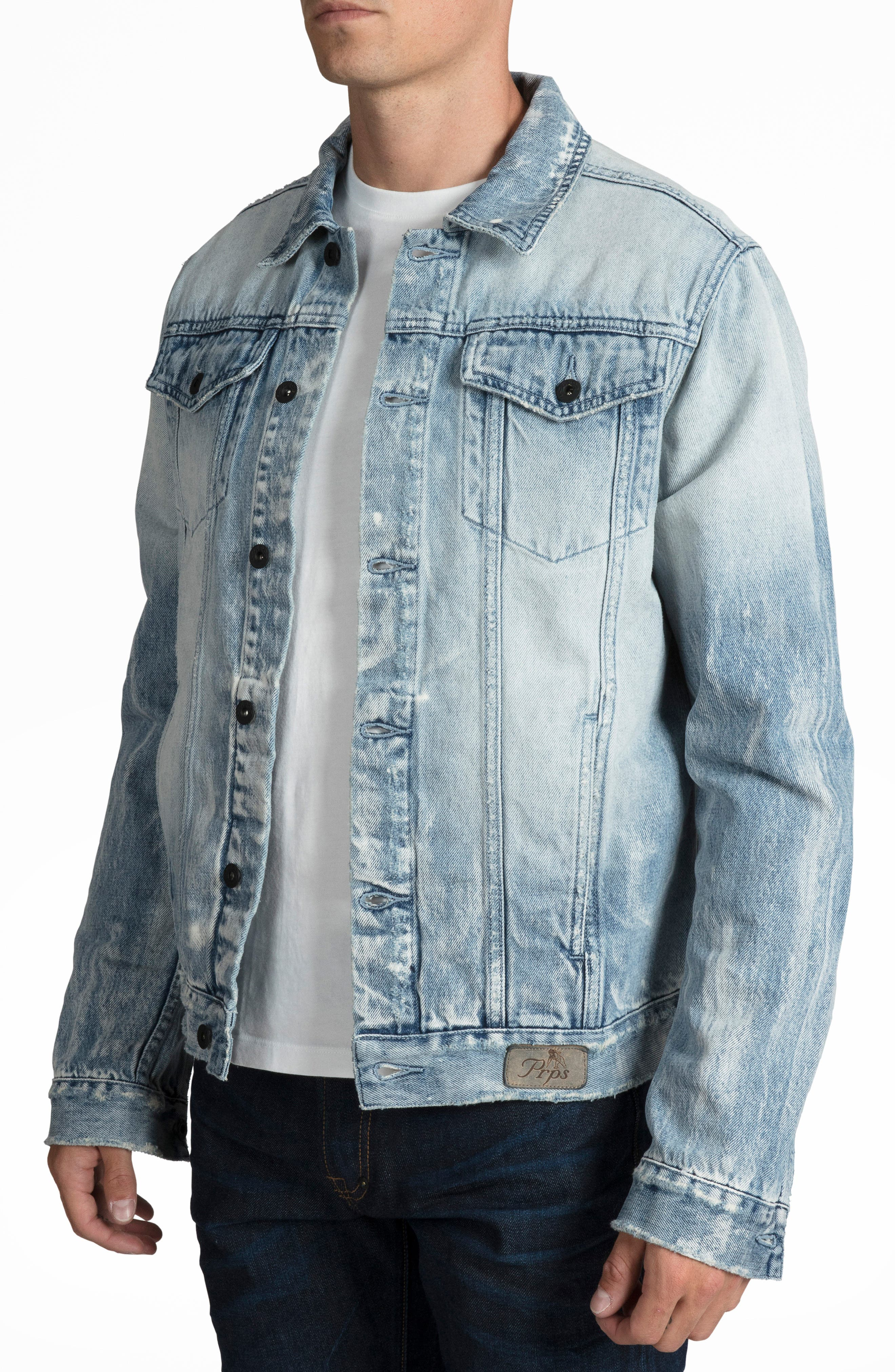 Denim Jacket,                             Alternate thumbnail 3, color,                             490