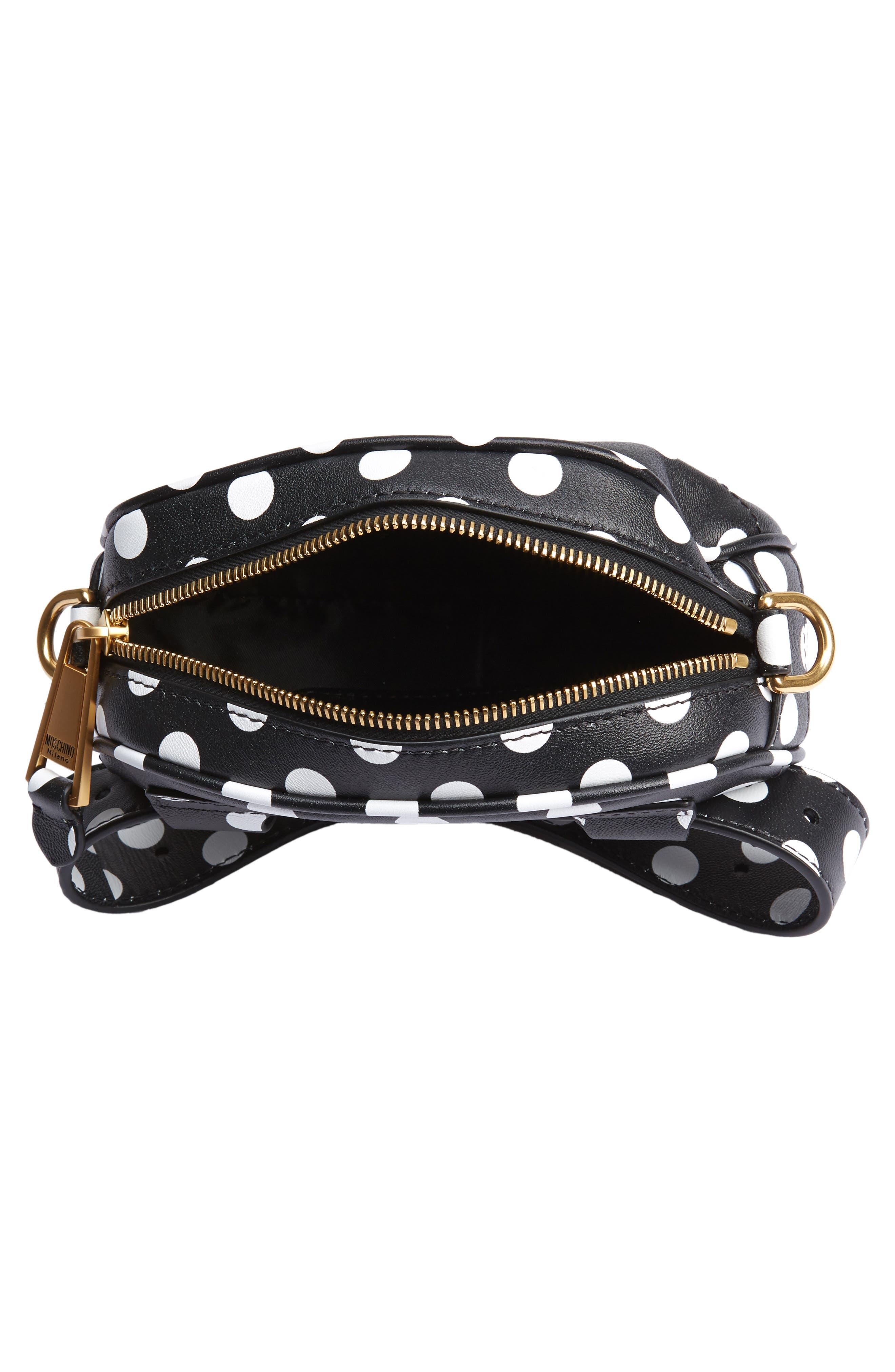 Logo Polka Dot Belt Bag,                             Alternate thumbnail 6, color,                             BLACK/ WHITE