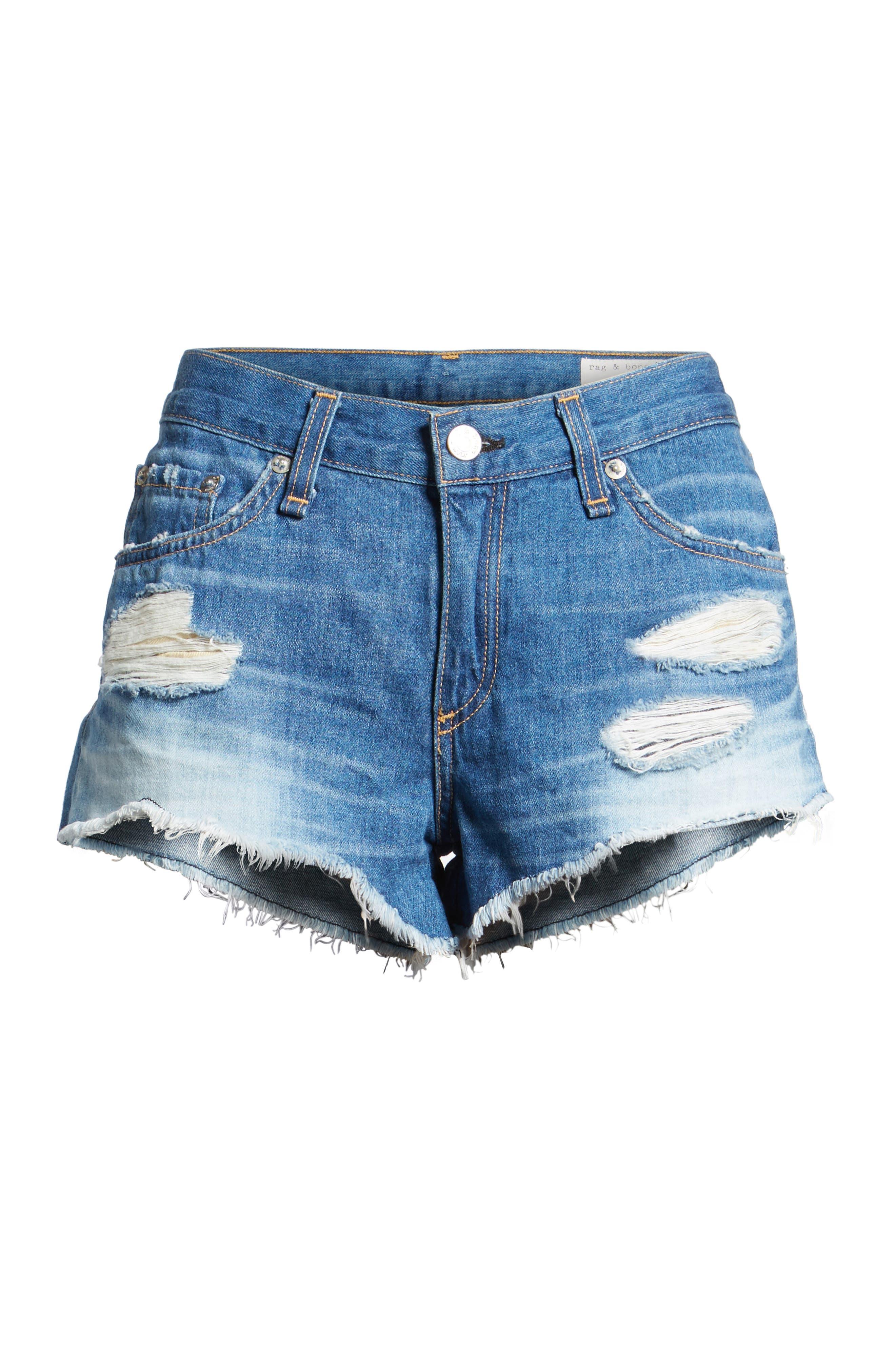 'The Cutoff' Denim Shorts, Main, color, 421