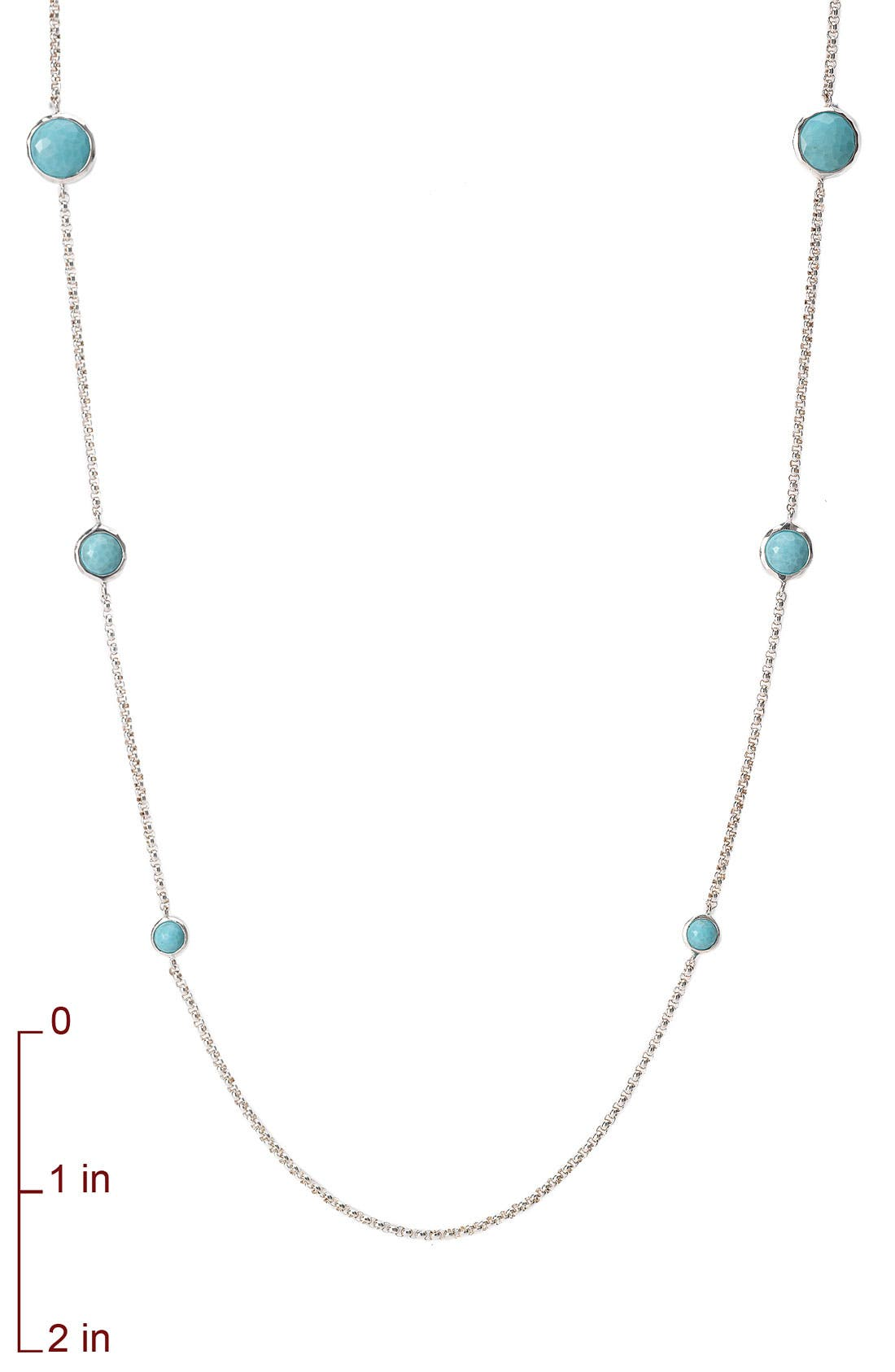'Rock Candy - Lollipop' Long Necklace,                             Alternate thumbnail 6, color,                             SILVER - TURQUOISE