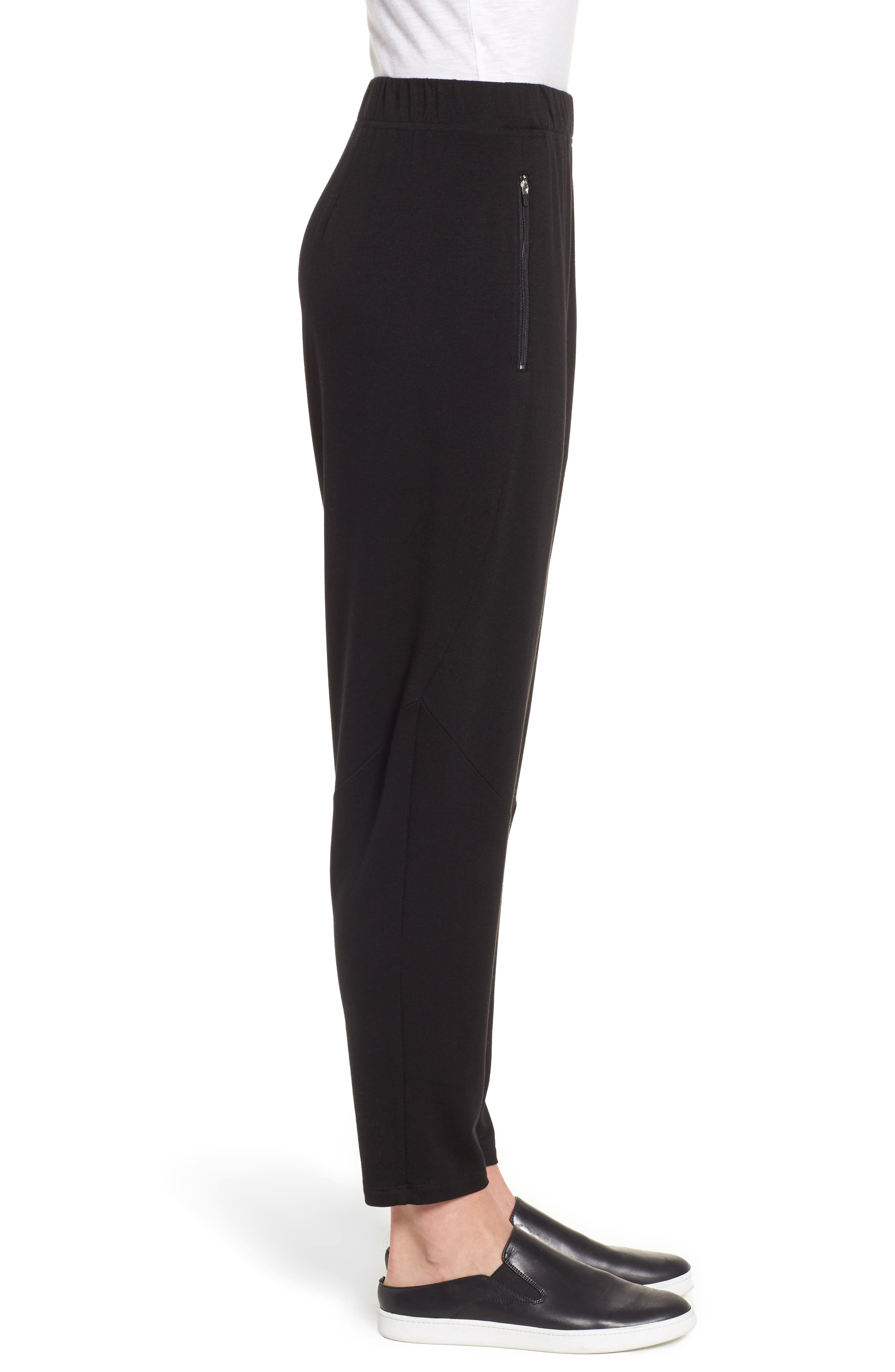 Slouchy Stretch Tencel<sup>®</sup> Lyocell Tapered Pants,                             Alternate thumbnail 3, color,                             001