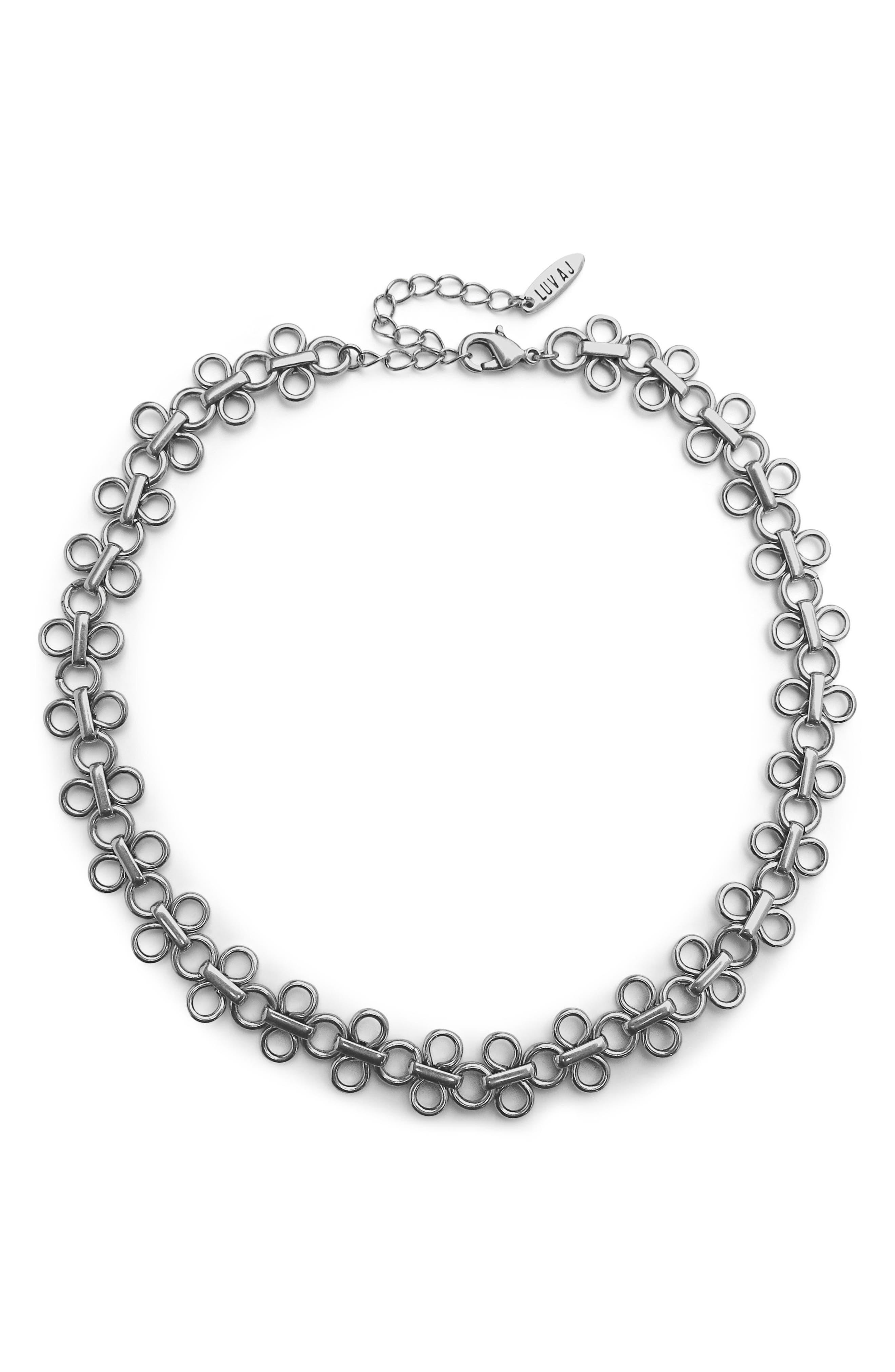 Lace Link Choker Necklace,                         Main,                         color, 040