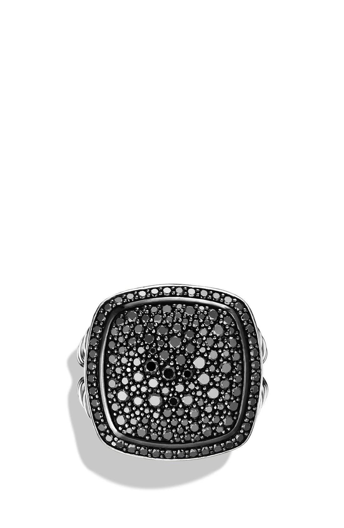 'Albion' Ring with Diamonds,                             Alternate thumbnail 4, color,                             BLACK DIAMOND
