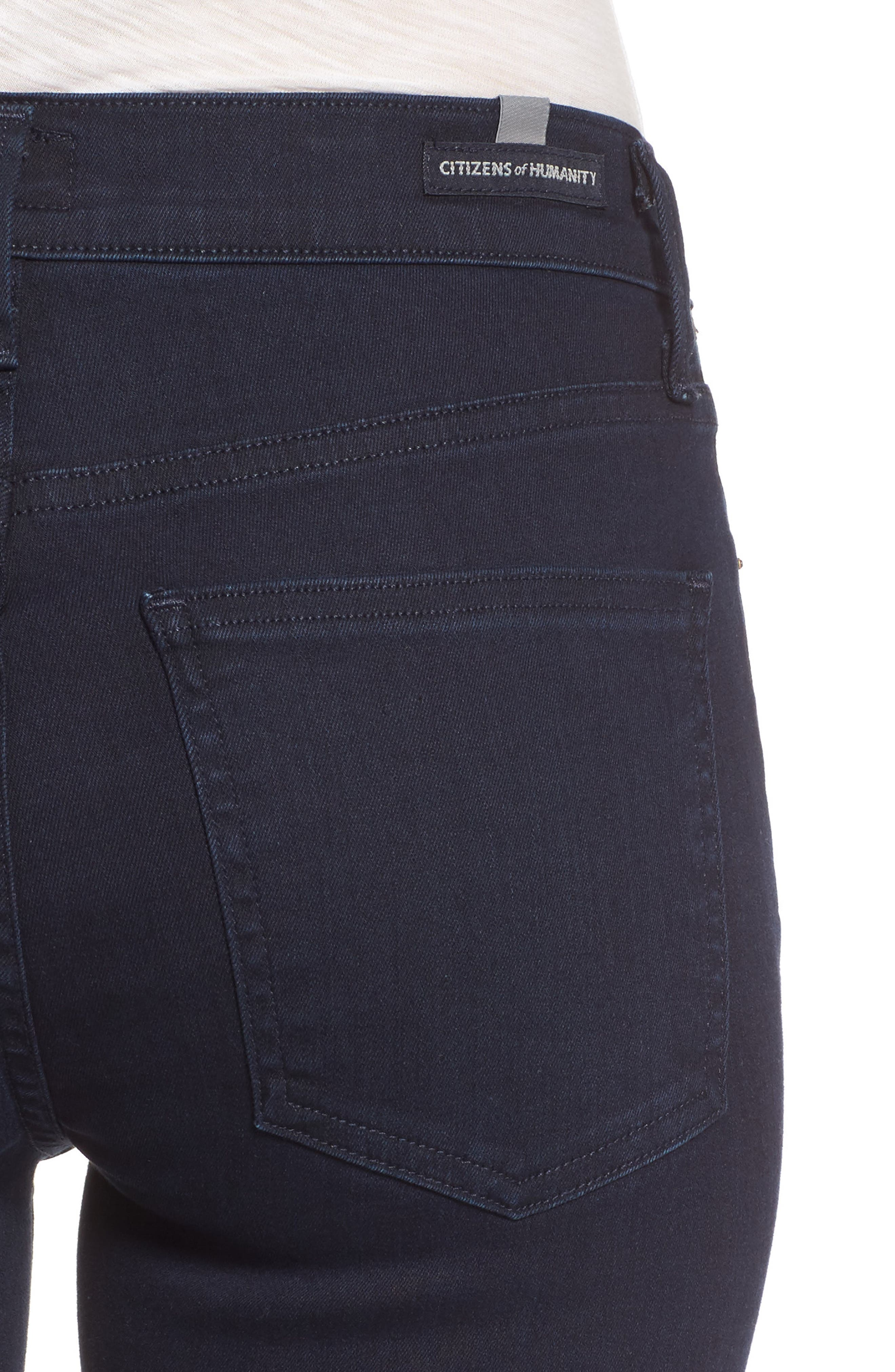 Rocket High Waist Skinny Jeans,                             Alternate thumbnail 4, color,                             409