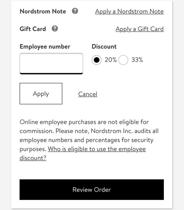 d00d954163c Employee Discount.