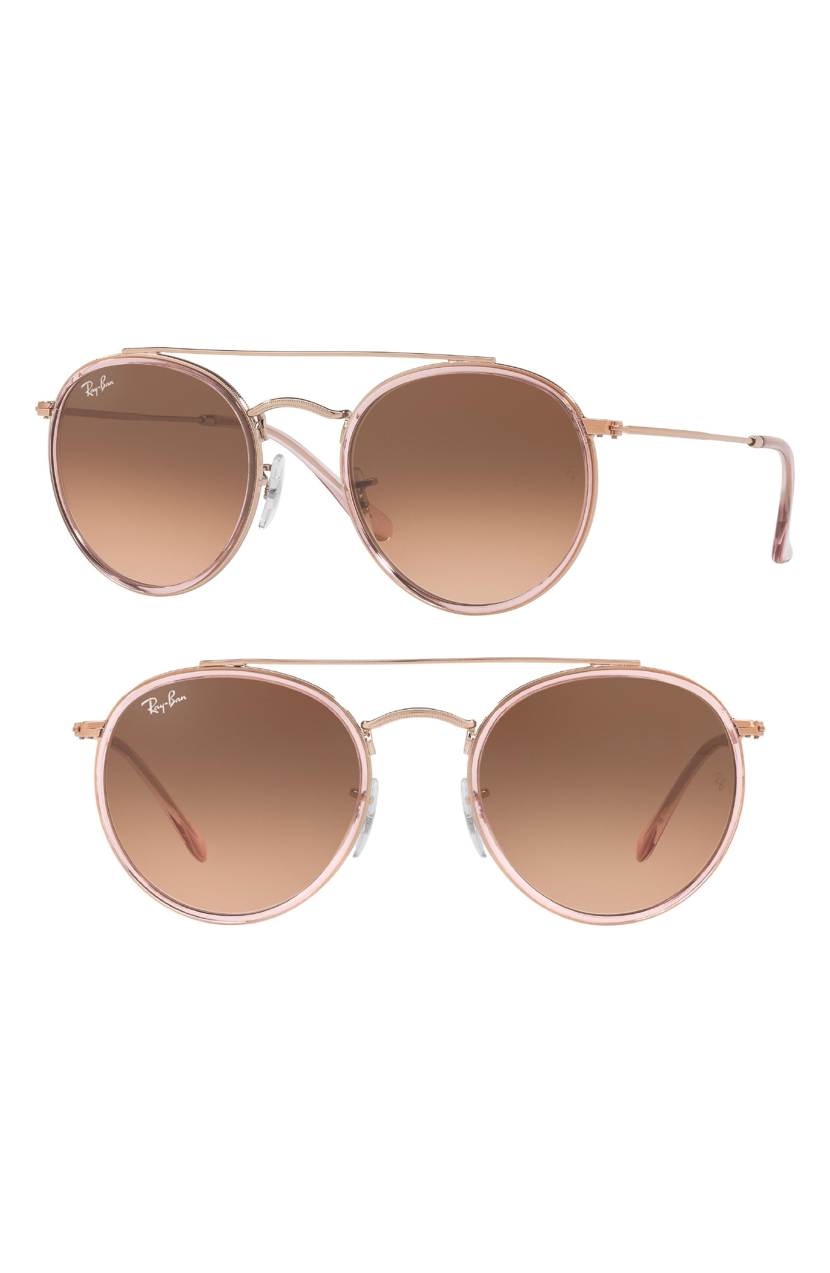 51mm Aviator Gradient Lens Sunglasses,                             Main thumbnail 4, color,