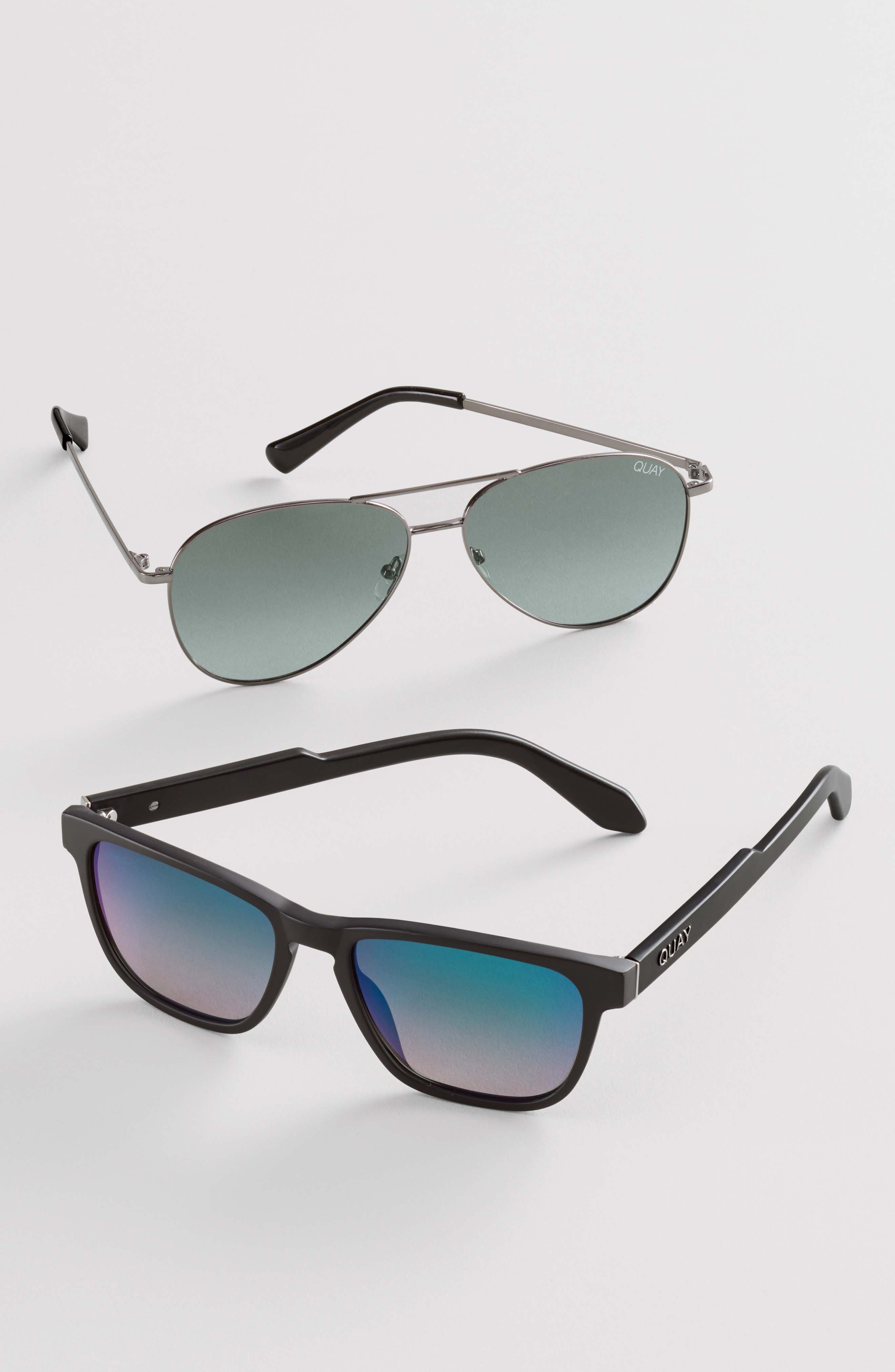 Hardwire 54mm Polarized Sunglasses,                             Alternate thumbnail 5, color,                             BLACK/ SMOKE LENS