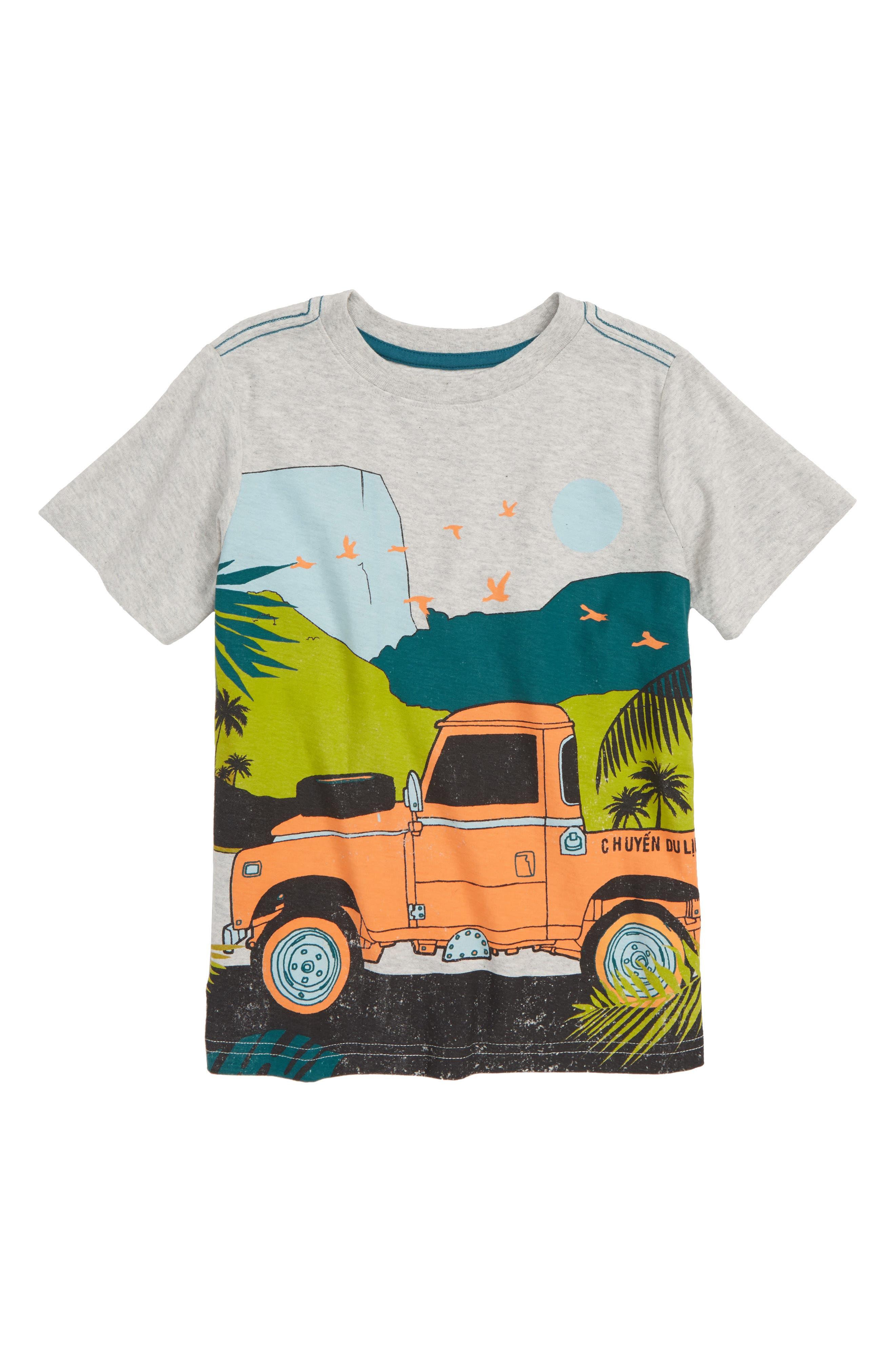 Trek Truck T-Shirt, Main, color, LIGHT GREY HEATHER