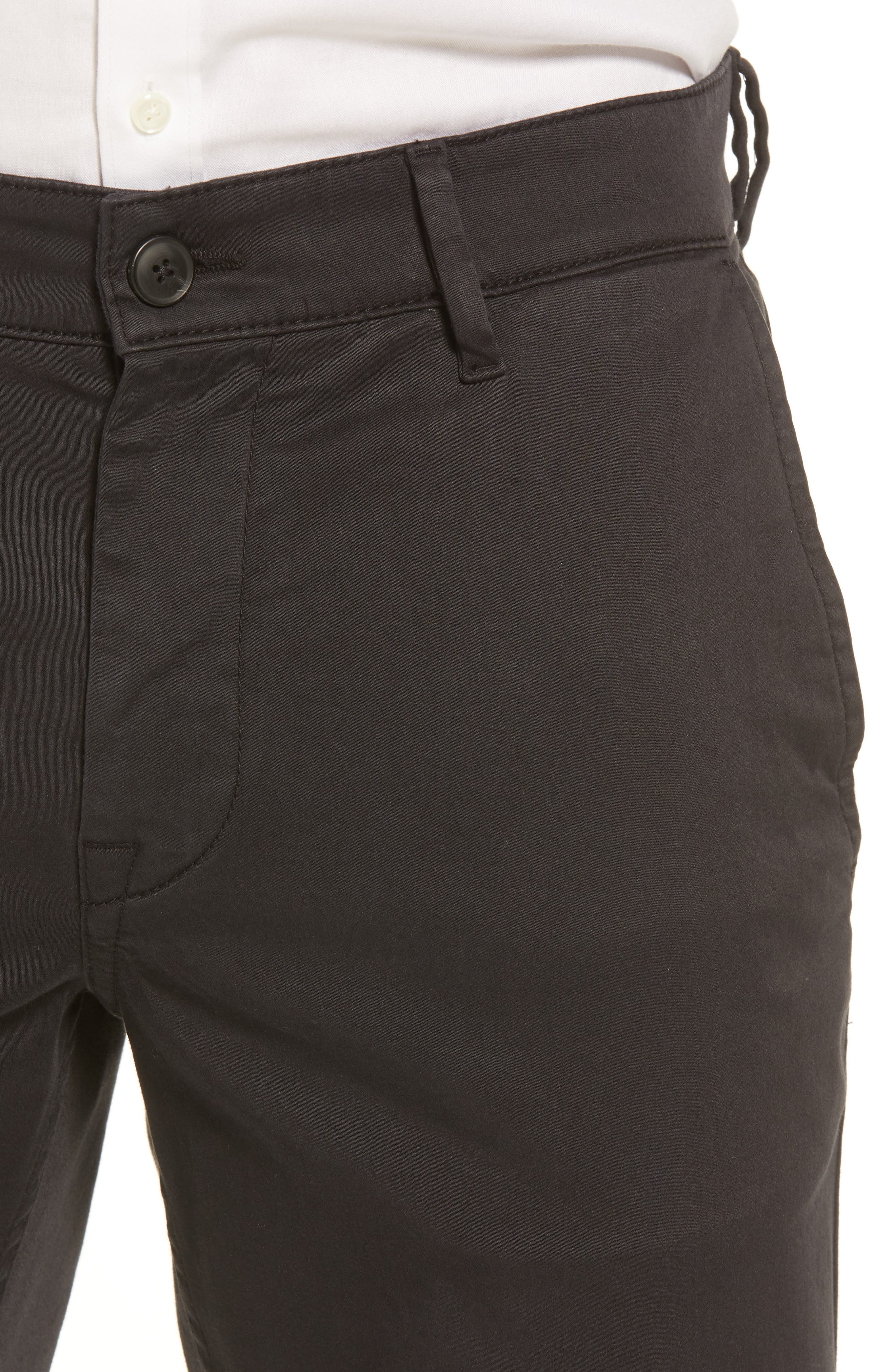 Stretch Chino Pants,                             Alternate thumbnail 4, color,                             BLACK