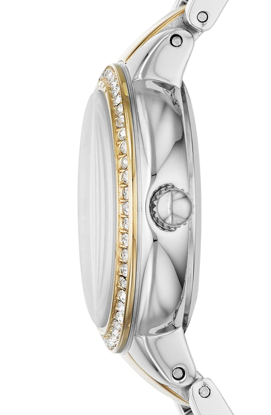 'Virginia' Crystal Bezel Bracelet Watch, 34mm,                             Alternate thumbnail 3, color,                             040