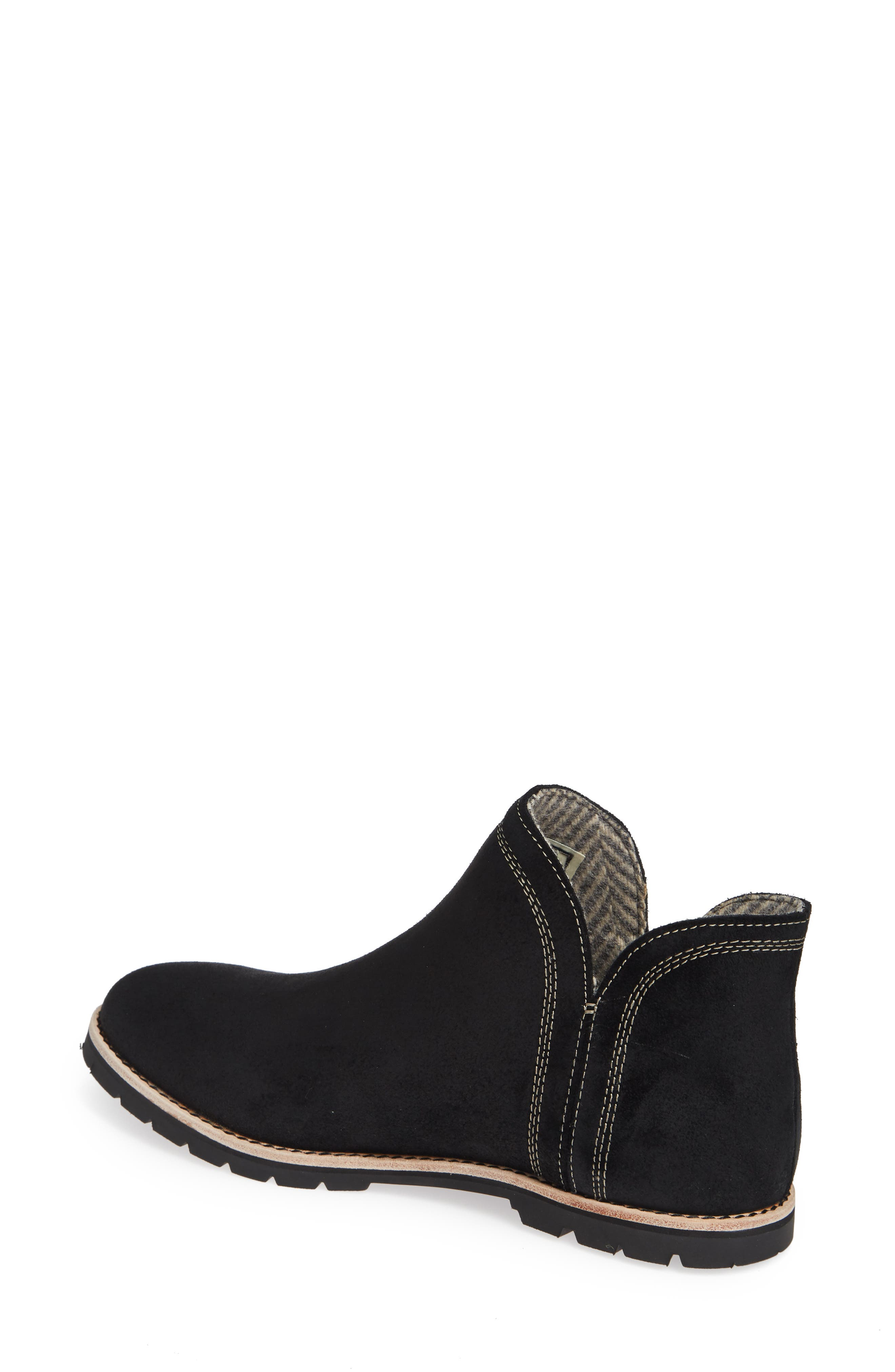 Bly Waterproof Bootie,                             Alternate thumbnail 2, color,                             BLACK SUEDE