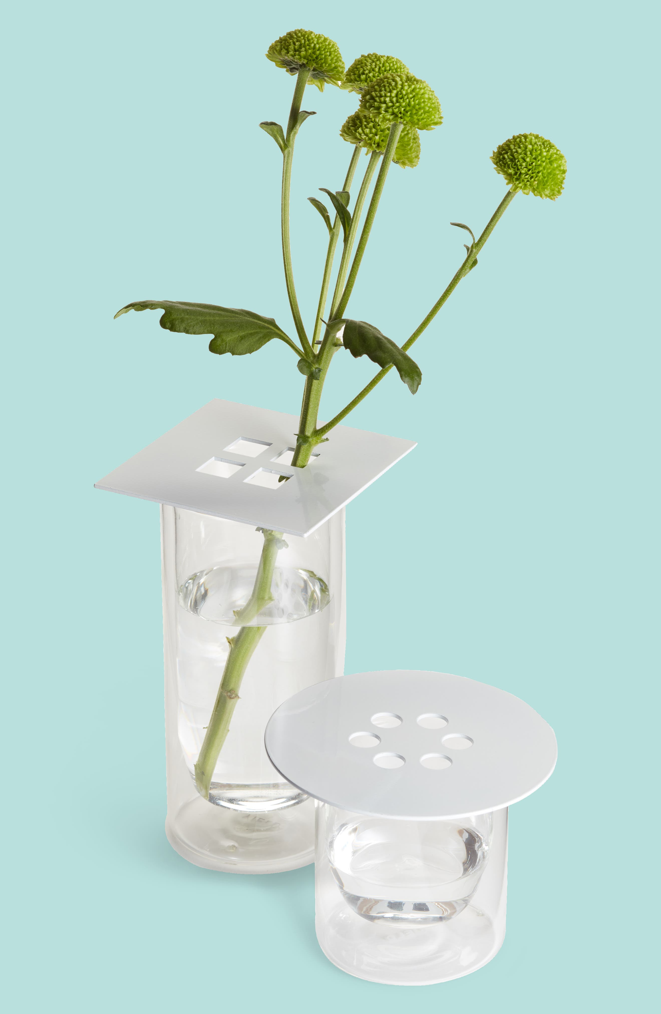 Set of 3 Anywhere Vase Converters,                         Main,                         color, WHITE