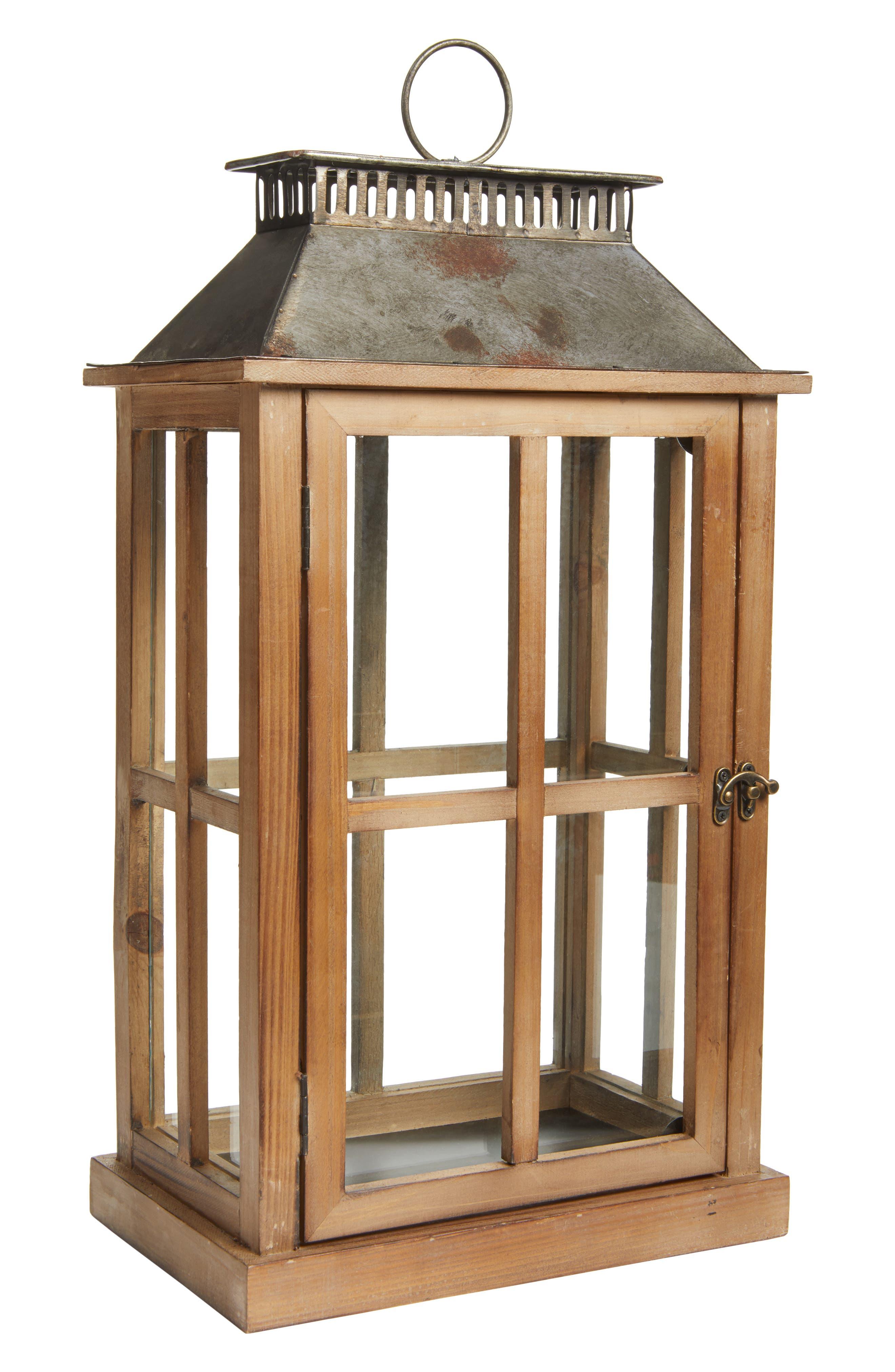 Decorative Wood & Metal Lantern,                         Main,                         color, 200