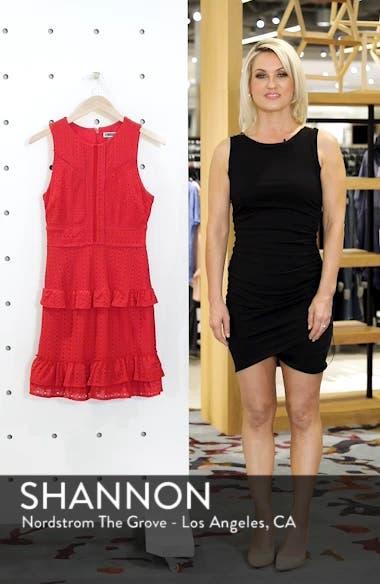 Sleeveless Ruffle Knit Sheath Dress, sales video thumbnail