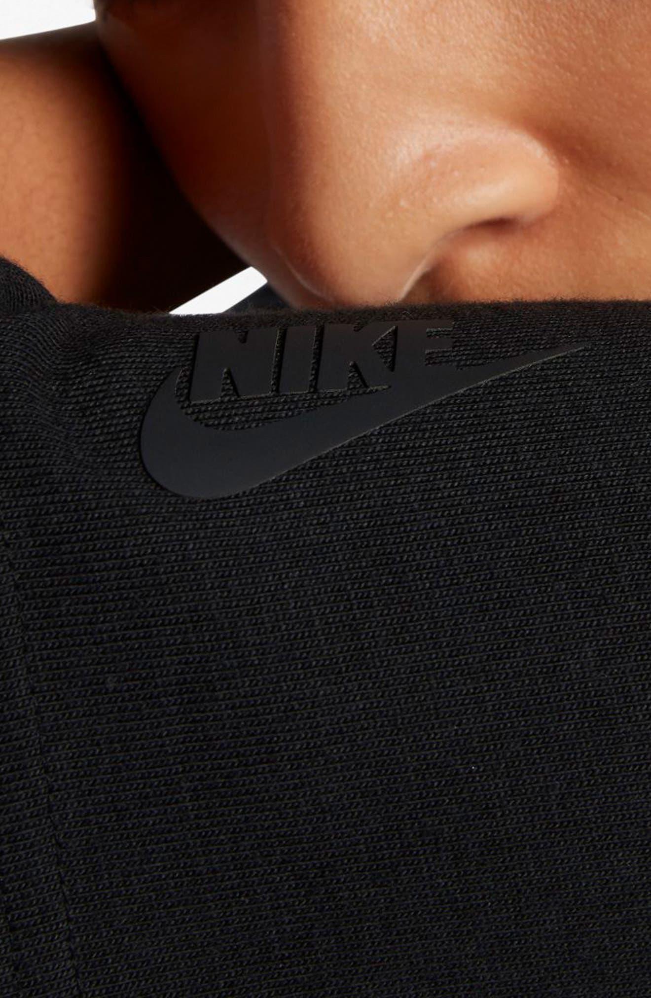 NikeLab Essentials T-Shirt Dress,                             Alternate thumbnail 4, color,                             010