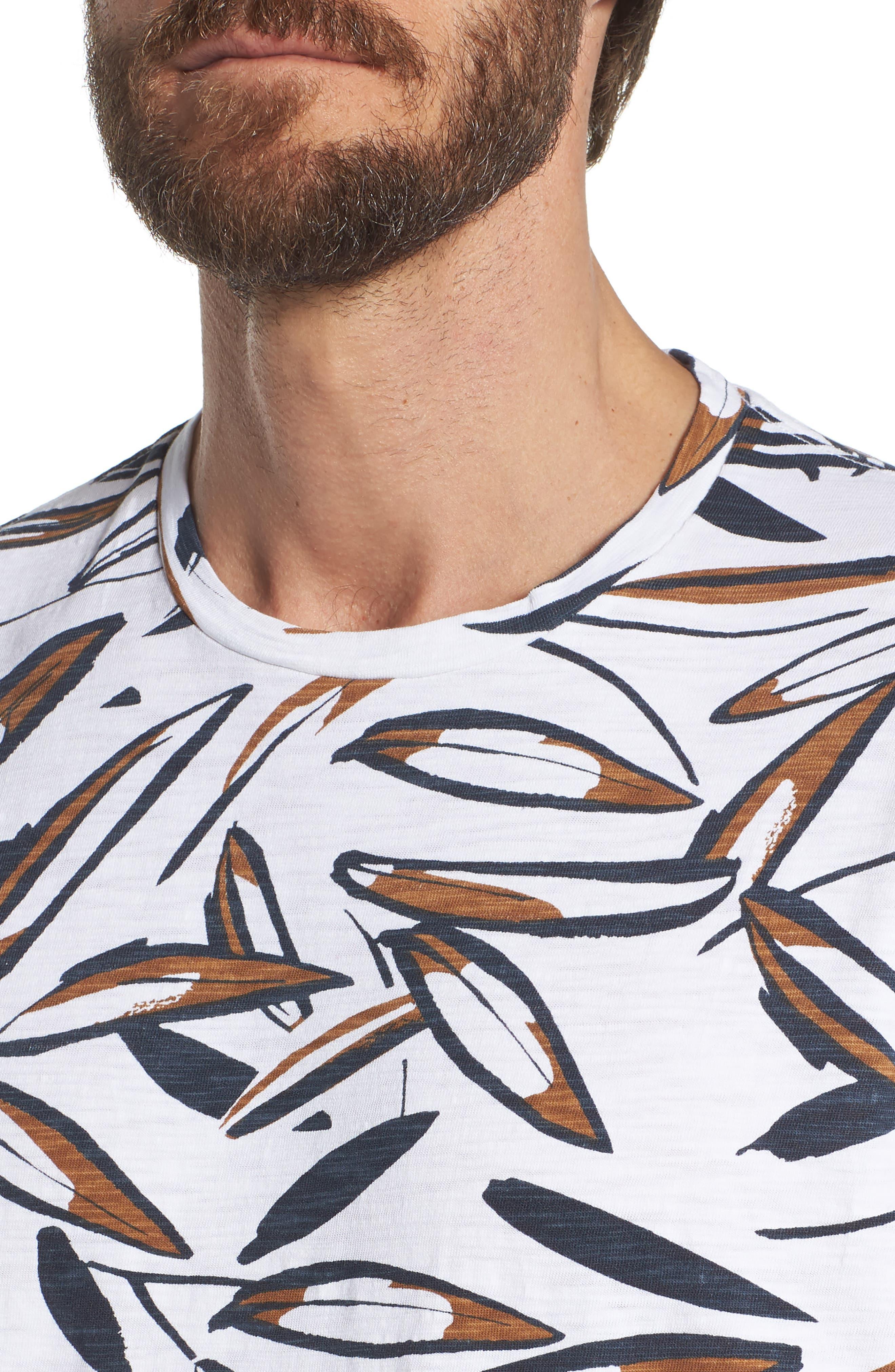 Leafy Arbour Slim Fit Heavyweight T-Shirt,                             Alternate thumbnail 4, color,                             100