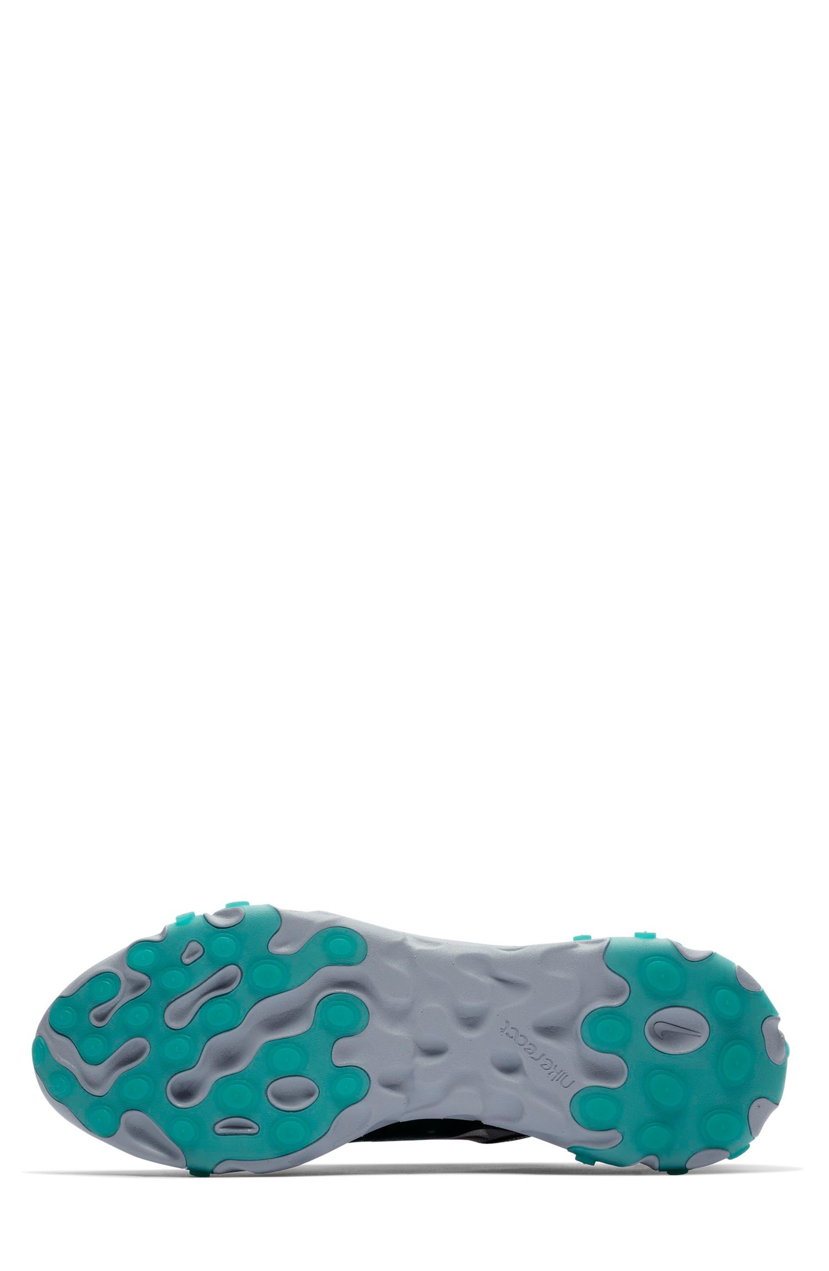 React Element 87 Sneaker,                             Alternate thumbnail 6, color,                             BLACK/ MIDNIGHT NAVY/ GREEN