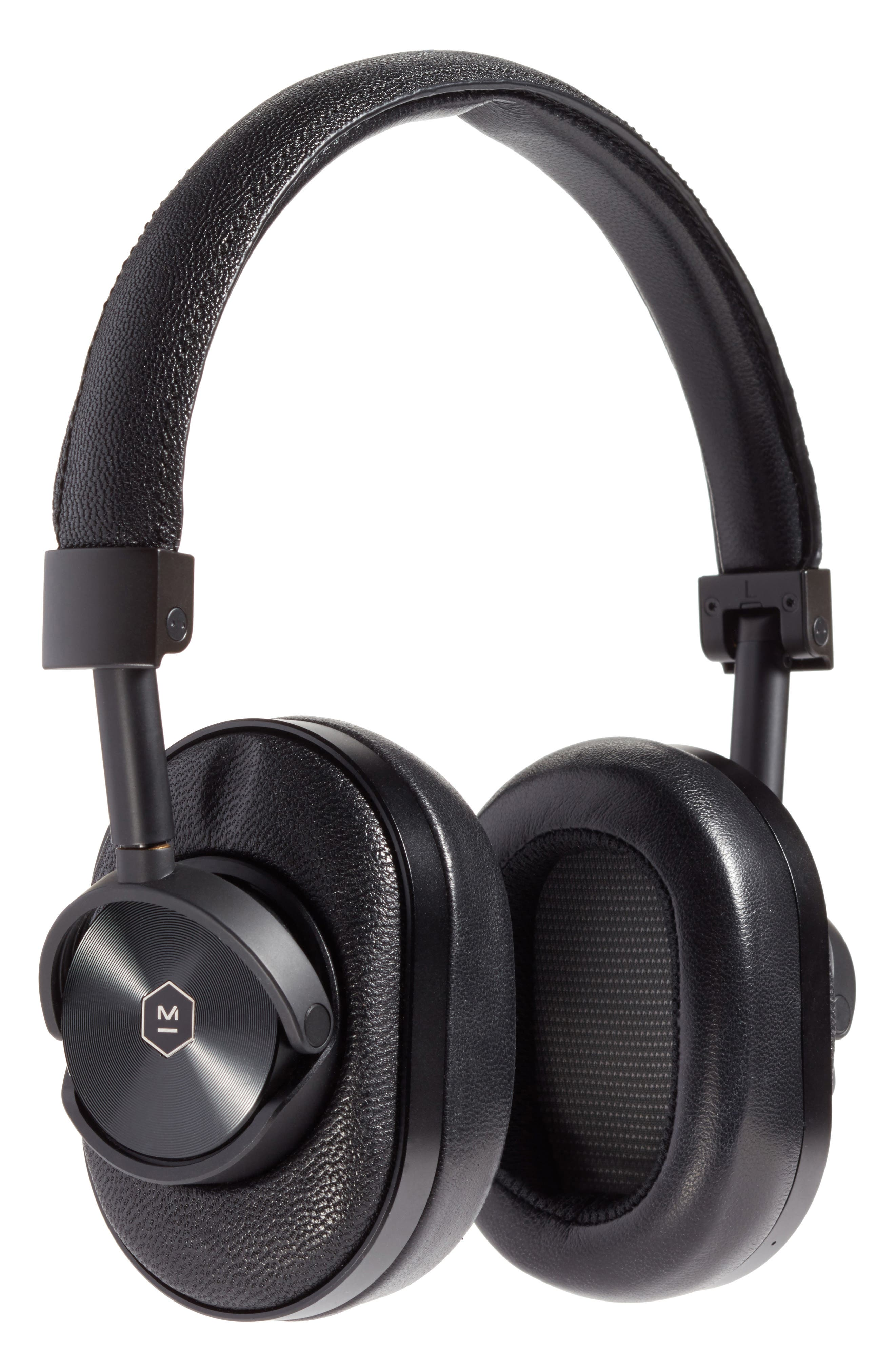 MW60 Wireless Over-Ear Headphones,                         Main,                         color, BLACK/BLACK