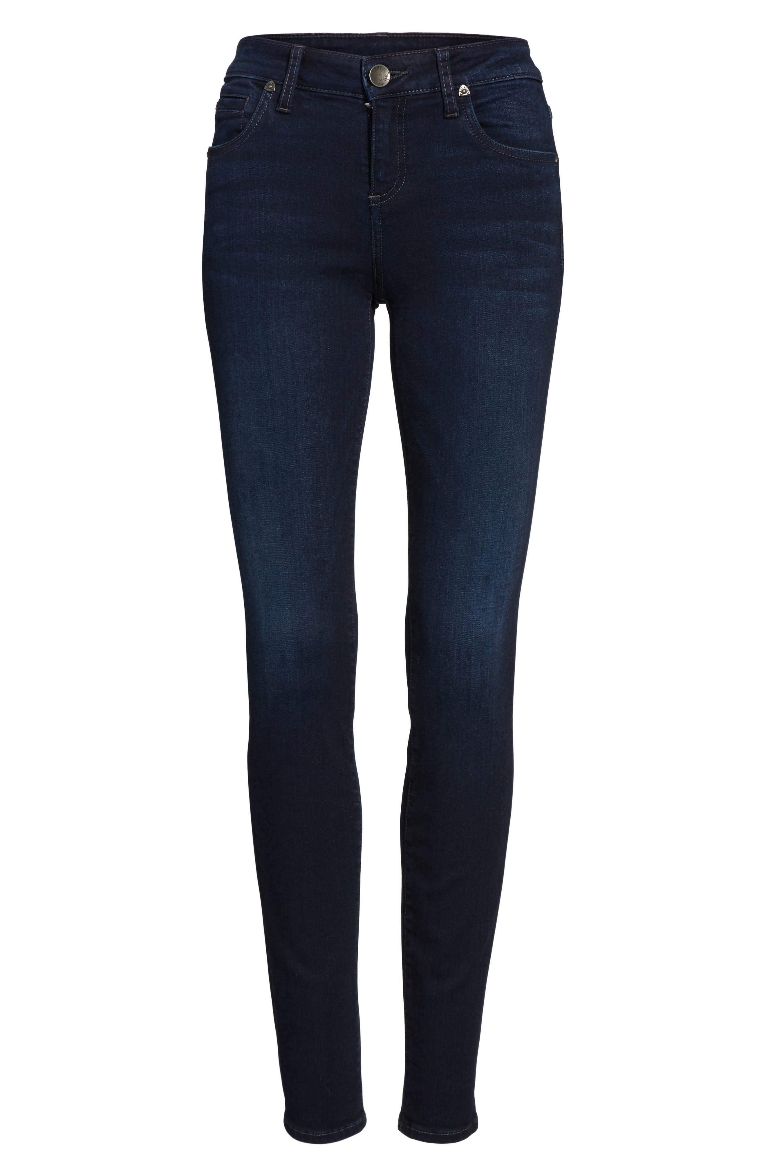 Diana Stretch Skinny Jeans,                             Alternate thumbnail 6, color,                             490