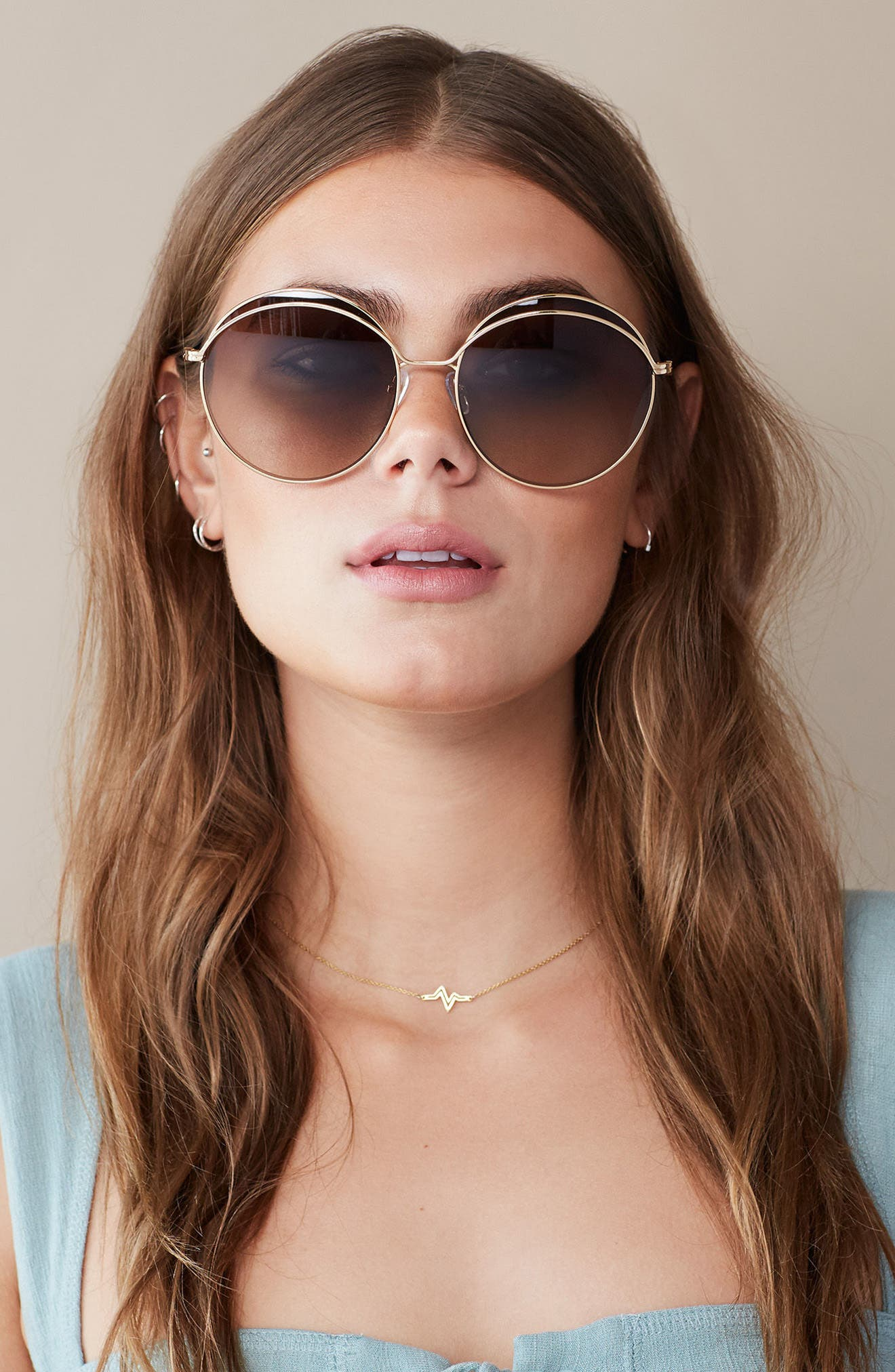 Oasis 63mm Round Sunglasses,                         Main,                         color,