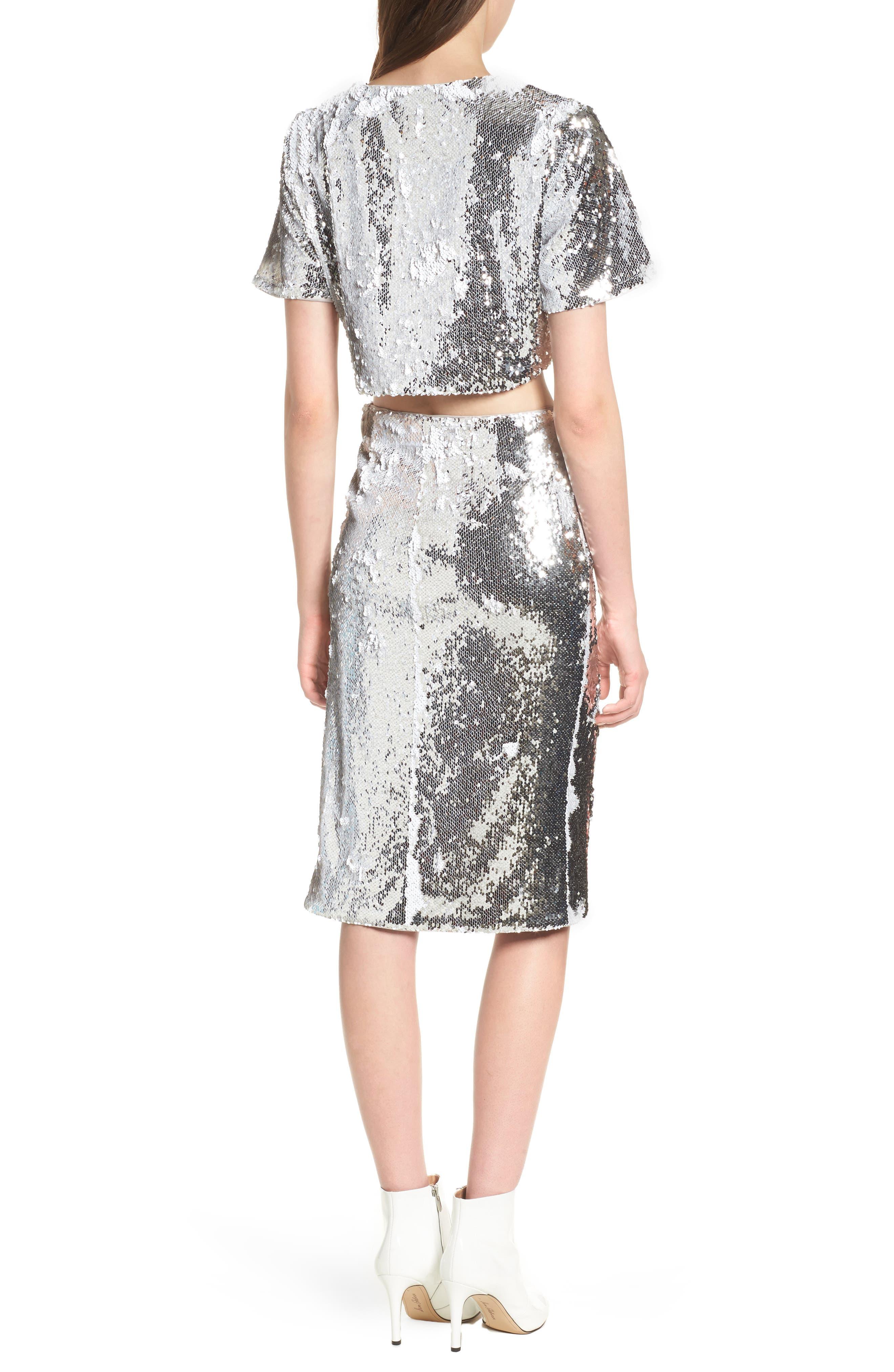 Liana Sequin Skirt,                             Alternate thumbnail 8, color,